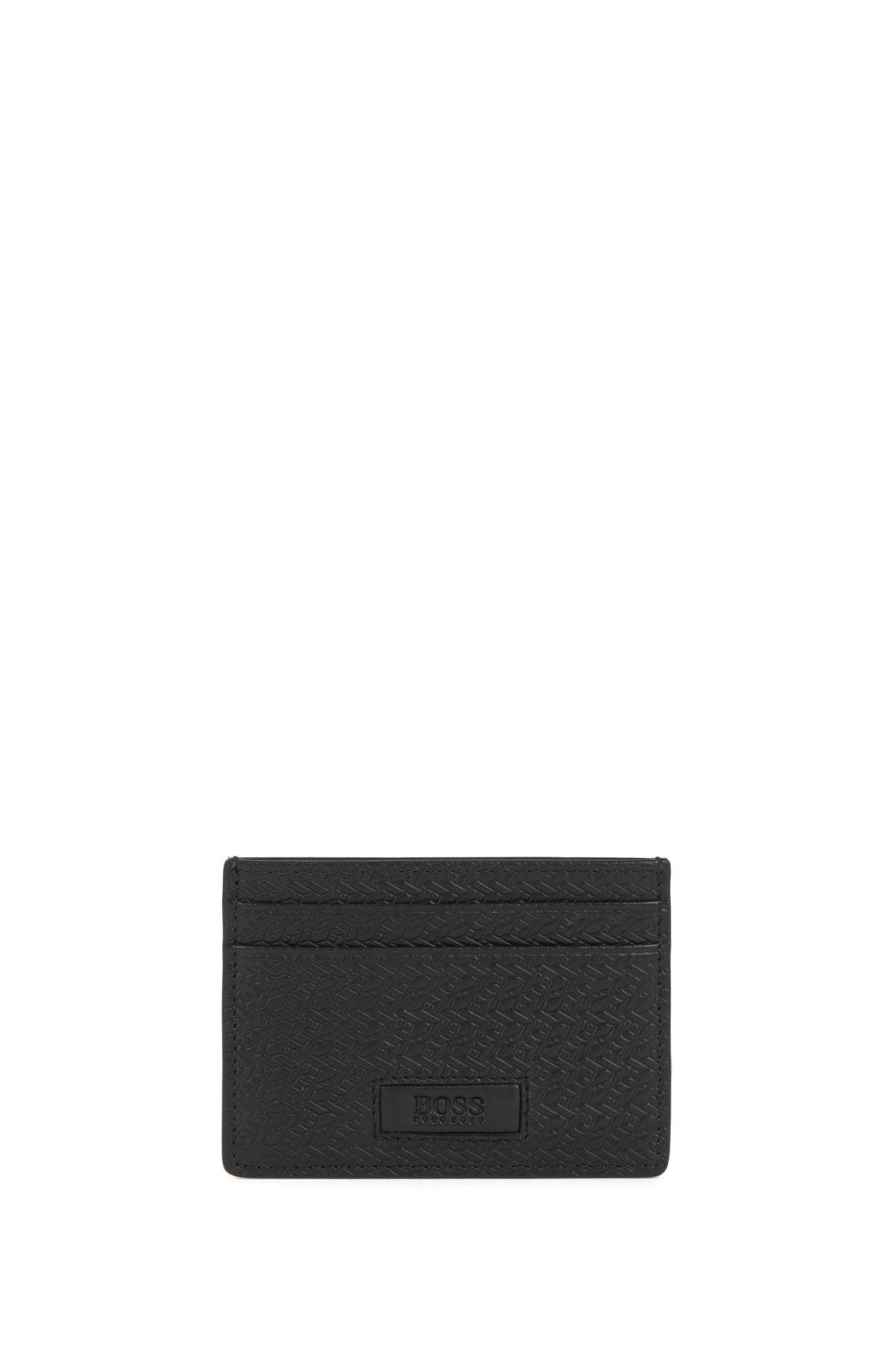 Set mit Geldbörse und Kartenetui aus Leder mit Struktur-Muster: 'GbB17PS_4cc coin S c'