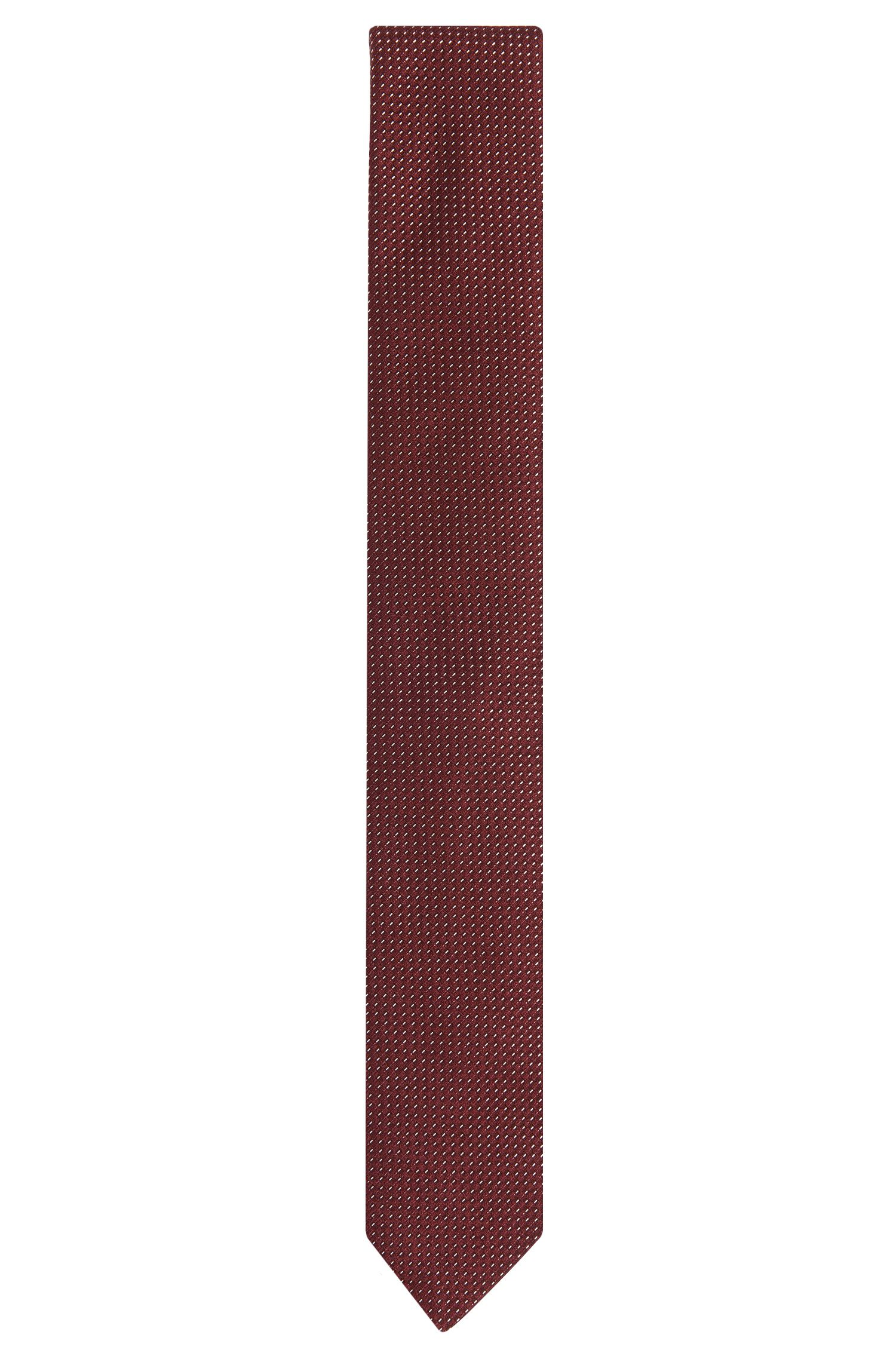 Corbata de lujosa textura en mezcla de seda con algodón: 'Tie 6cm'
