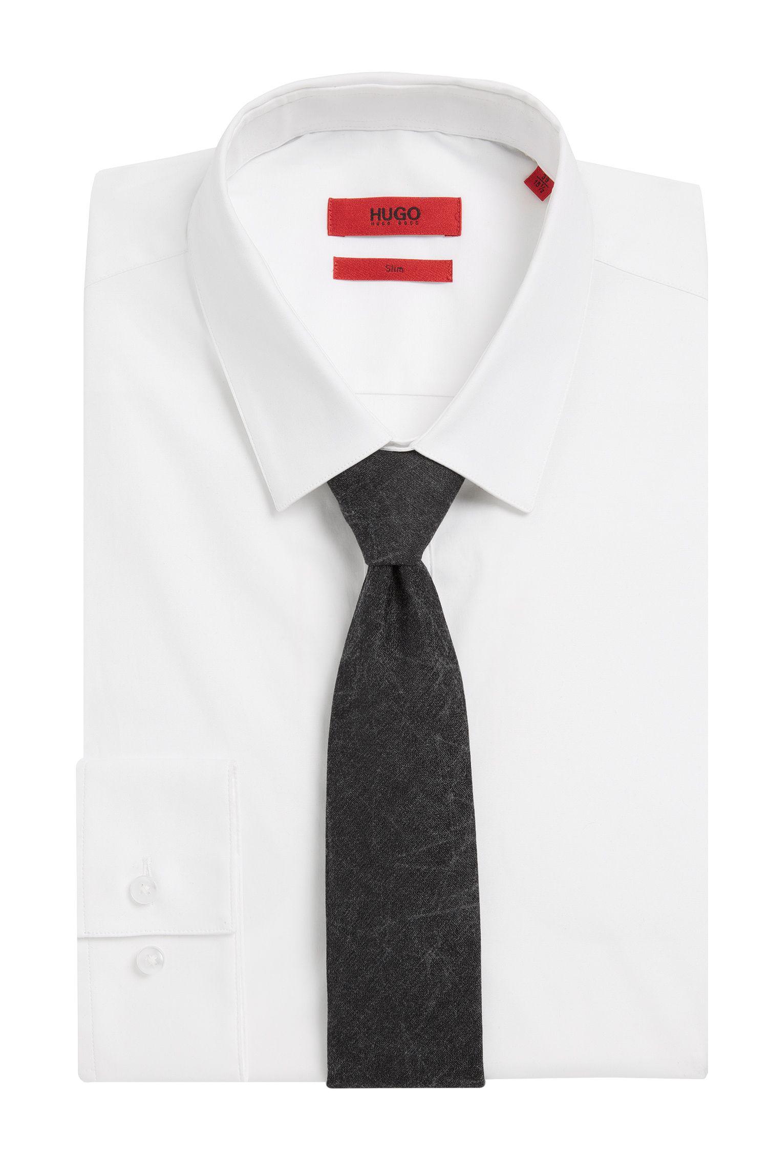 Gemusterte Krawatte aus Baumwoll-Mix mit Seide und Kaschmir: 'Tie cm 6'