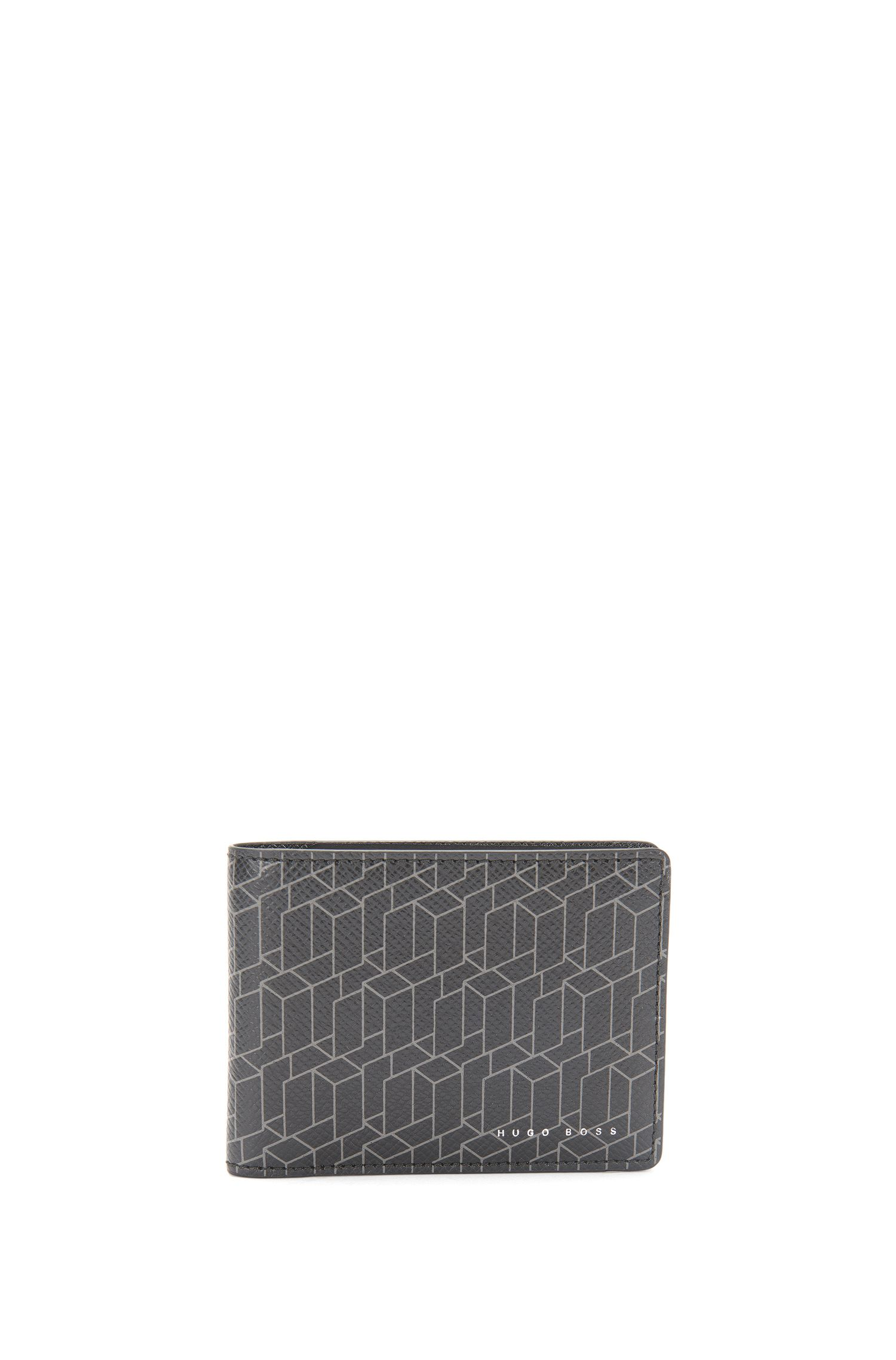Patterned leather wallet: 'Signature H_6 cc'