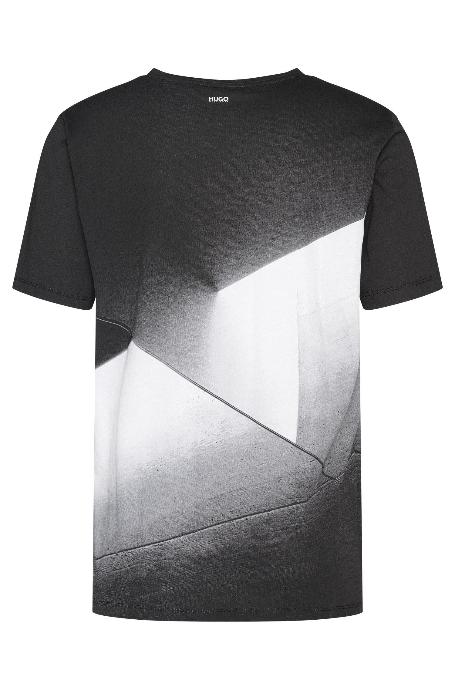 Bedrucktes Loose-Fit T-Shirt aus Baumwolle: 'Dicino'