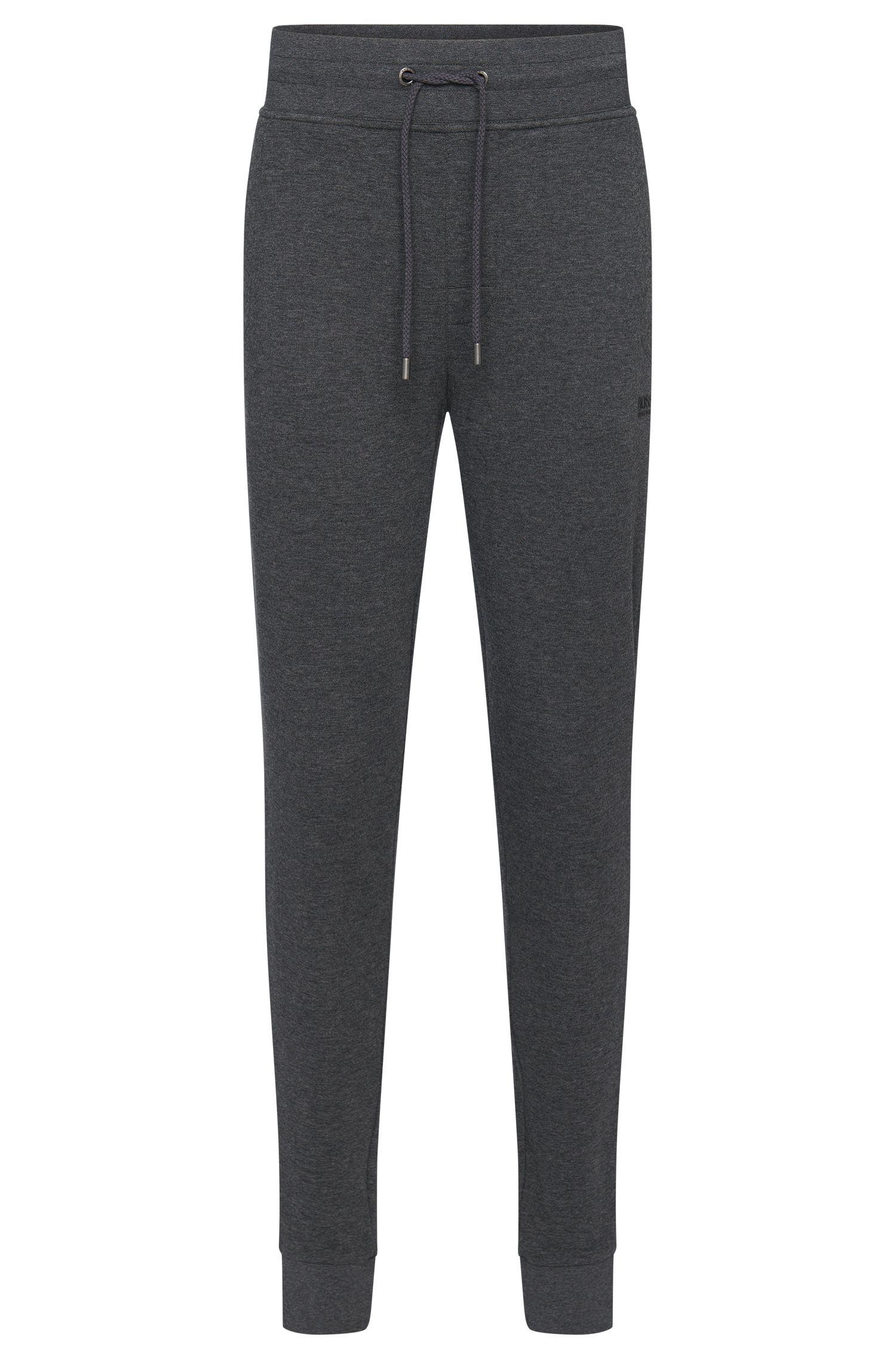 Melierte Sweathose aus Baumwolle mit Tunnelzugbund: 'Long Pant Cuffs'