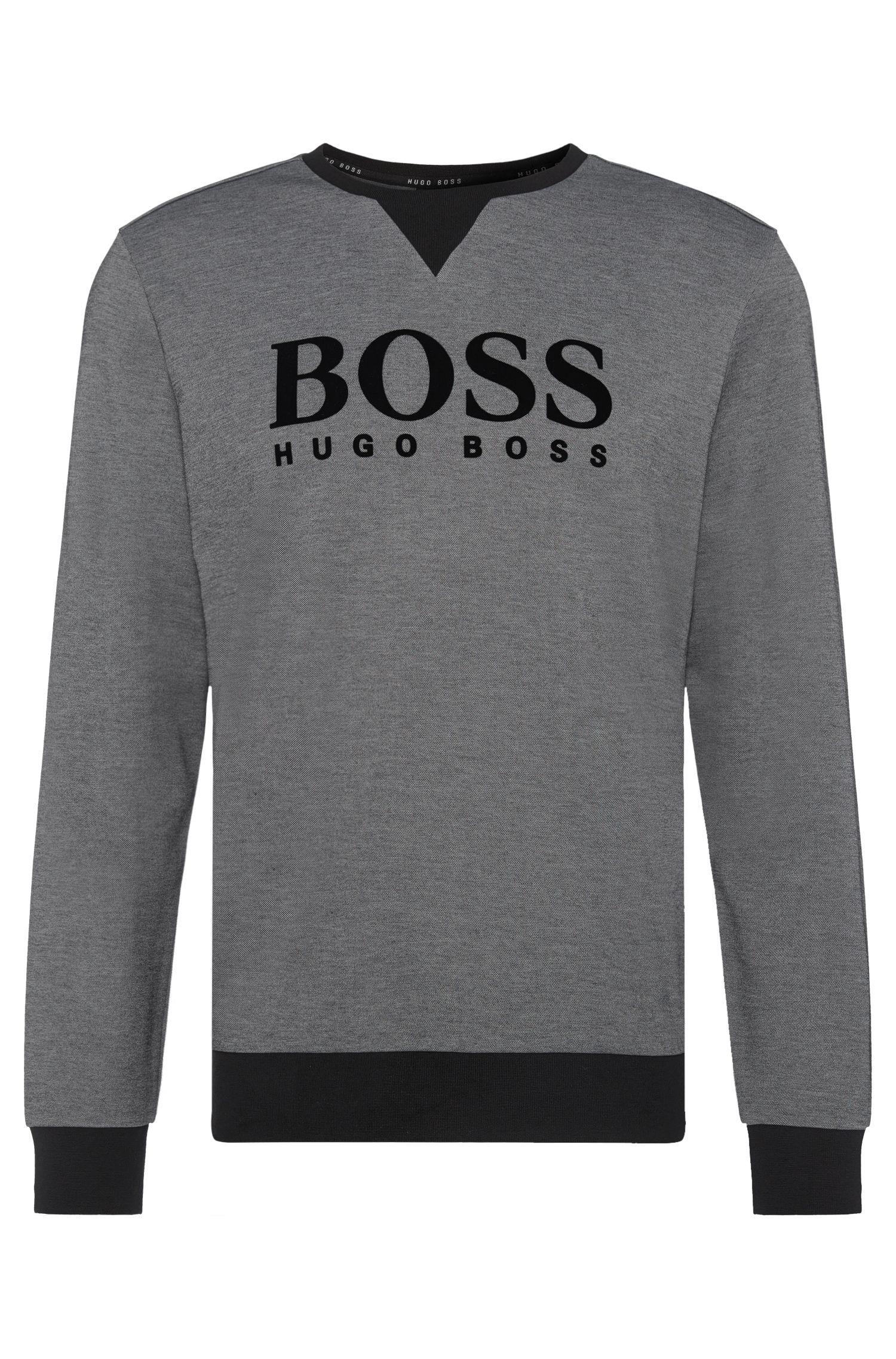 Gemêleerd sweatshirt van een katoenmix: 'Sweatshirt'