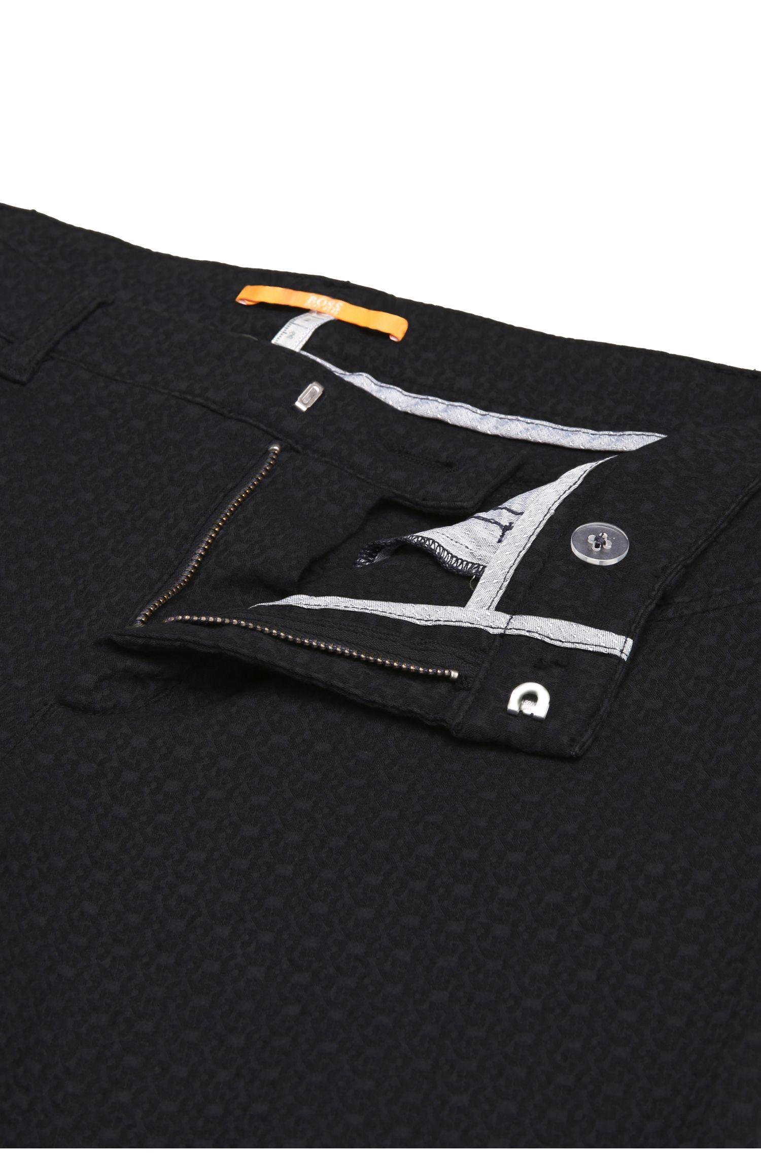 Schmale Hose aus elastischem Baumwoll-Mix mit Viskose: ´Sobina1-D`