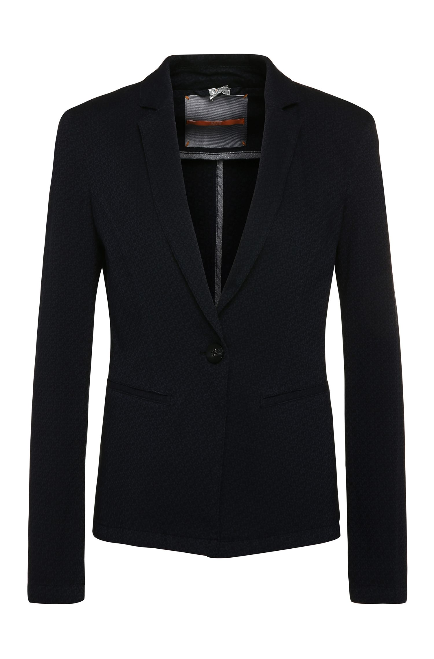 Blazer structuré Regular Fit en coton mélangé extensible à teneur en viscose : « Odotty-D »
