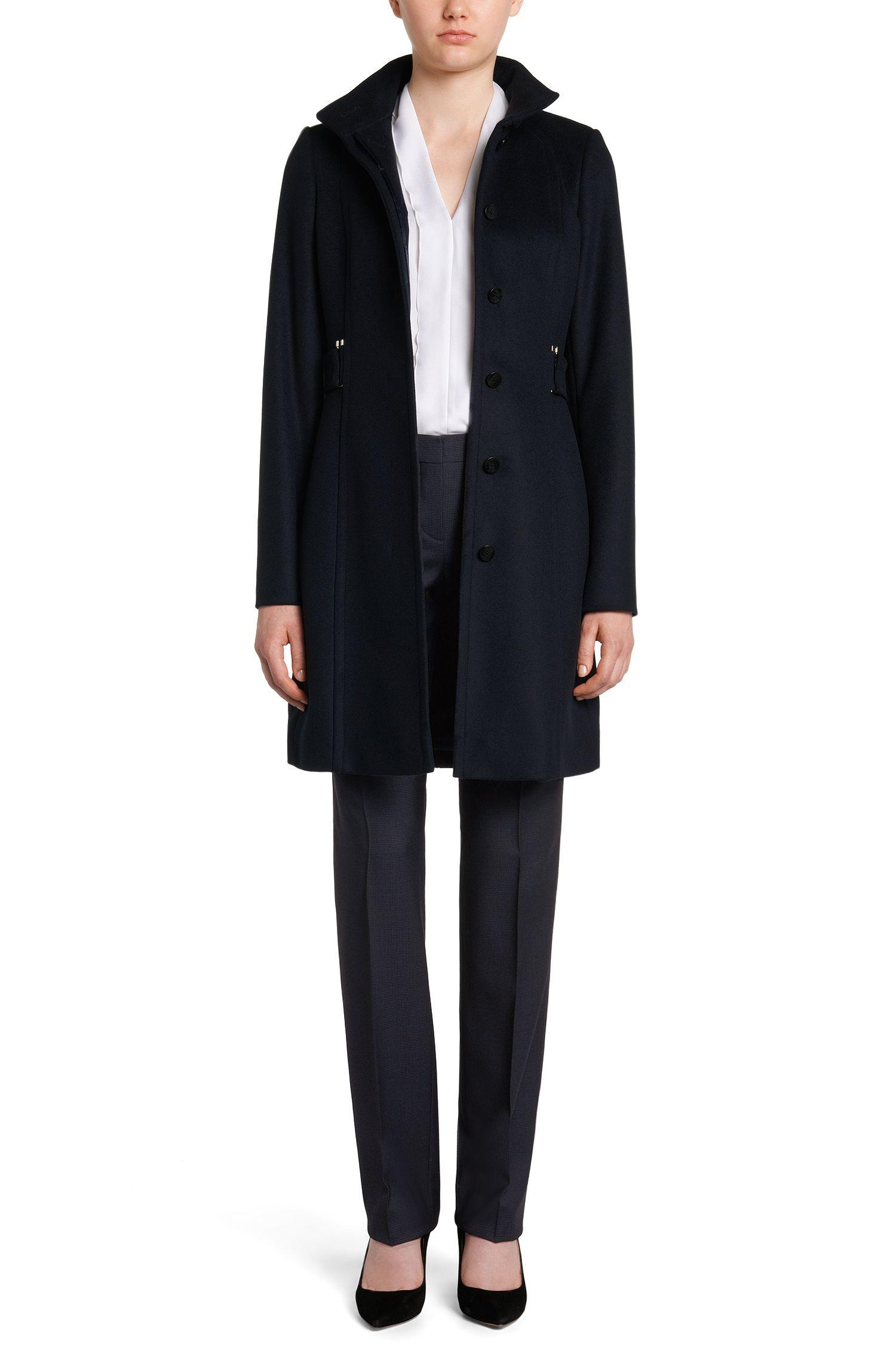 Pantalon Regular Fit en laine vierge extensible discrètement structurée: «Tamea1»
