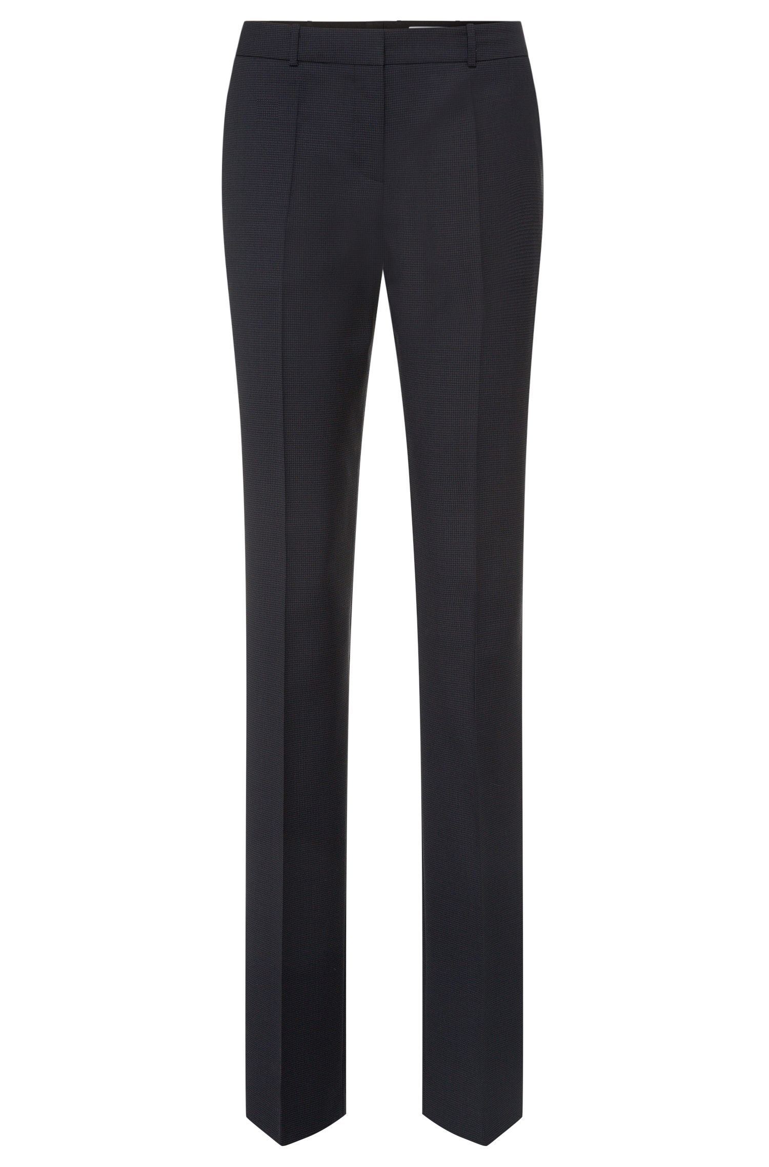 Subtly patterned regular-fit trousers in stretch new wool: 'Tamea1'