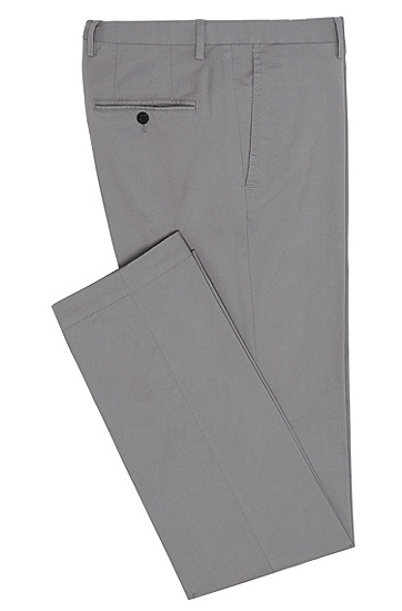 Slim-Fit Chino aus Stretch-Baumwolle: 'C-Stanino1-W', Grau