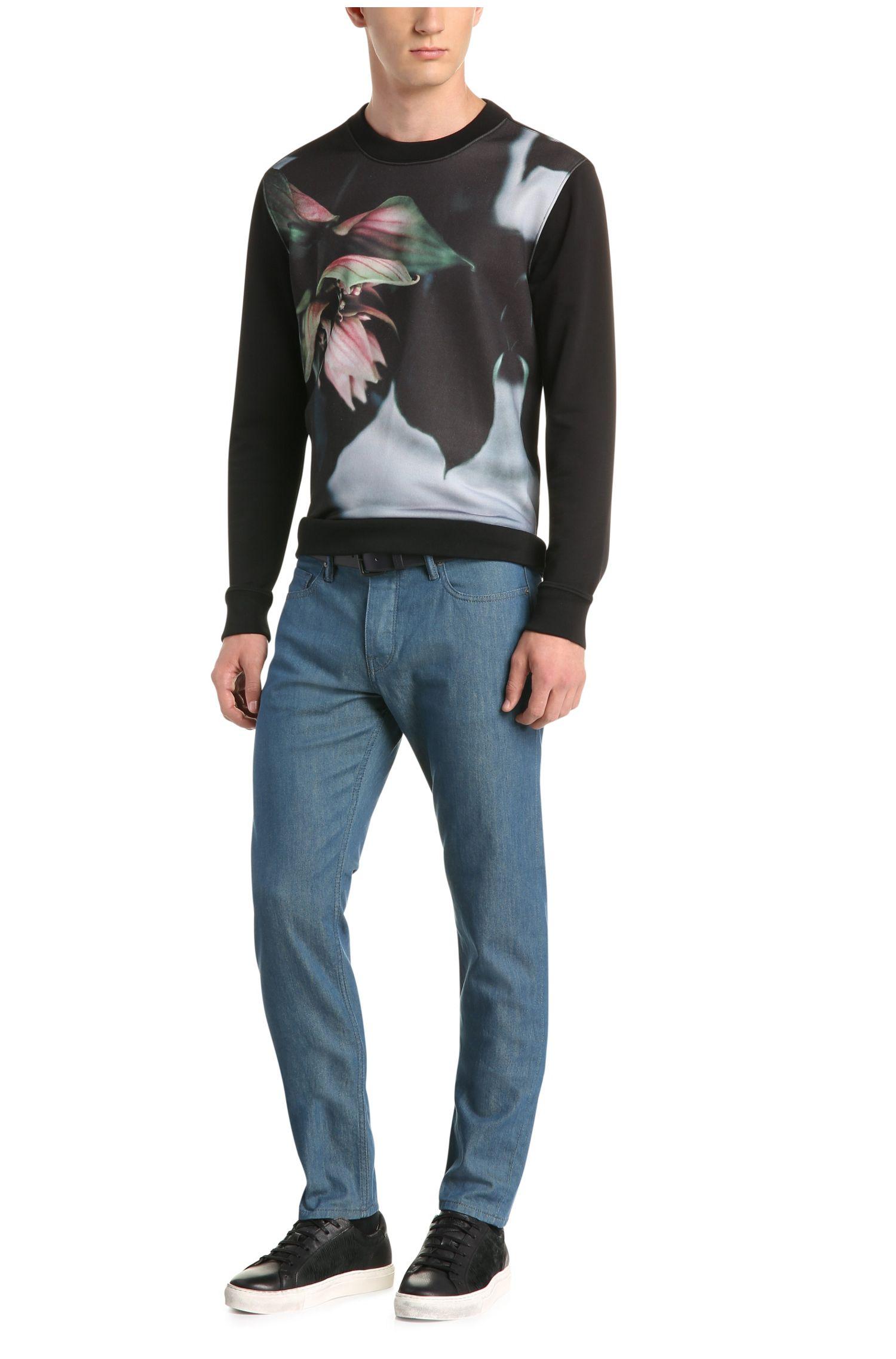 Regular-Fit Print-Sweater aus Baumwoll-Mix: ´Whit`