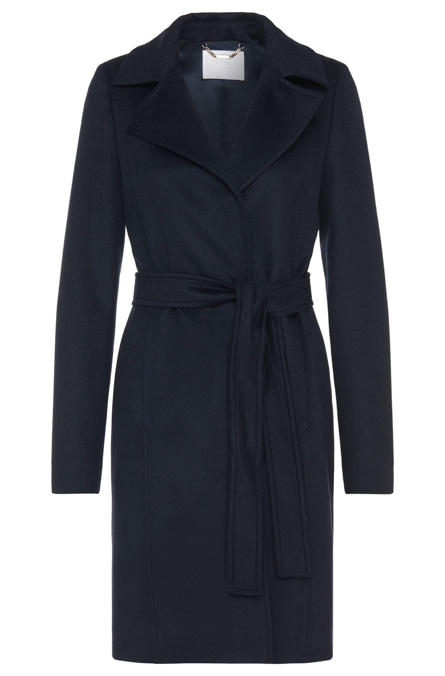 Manteau en laine vierge avec ceinture à nouer: «Canika1»
