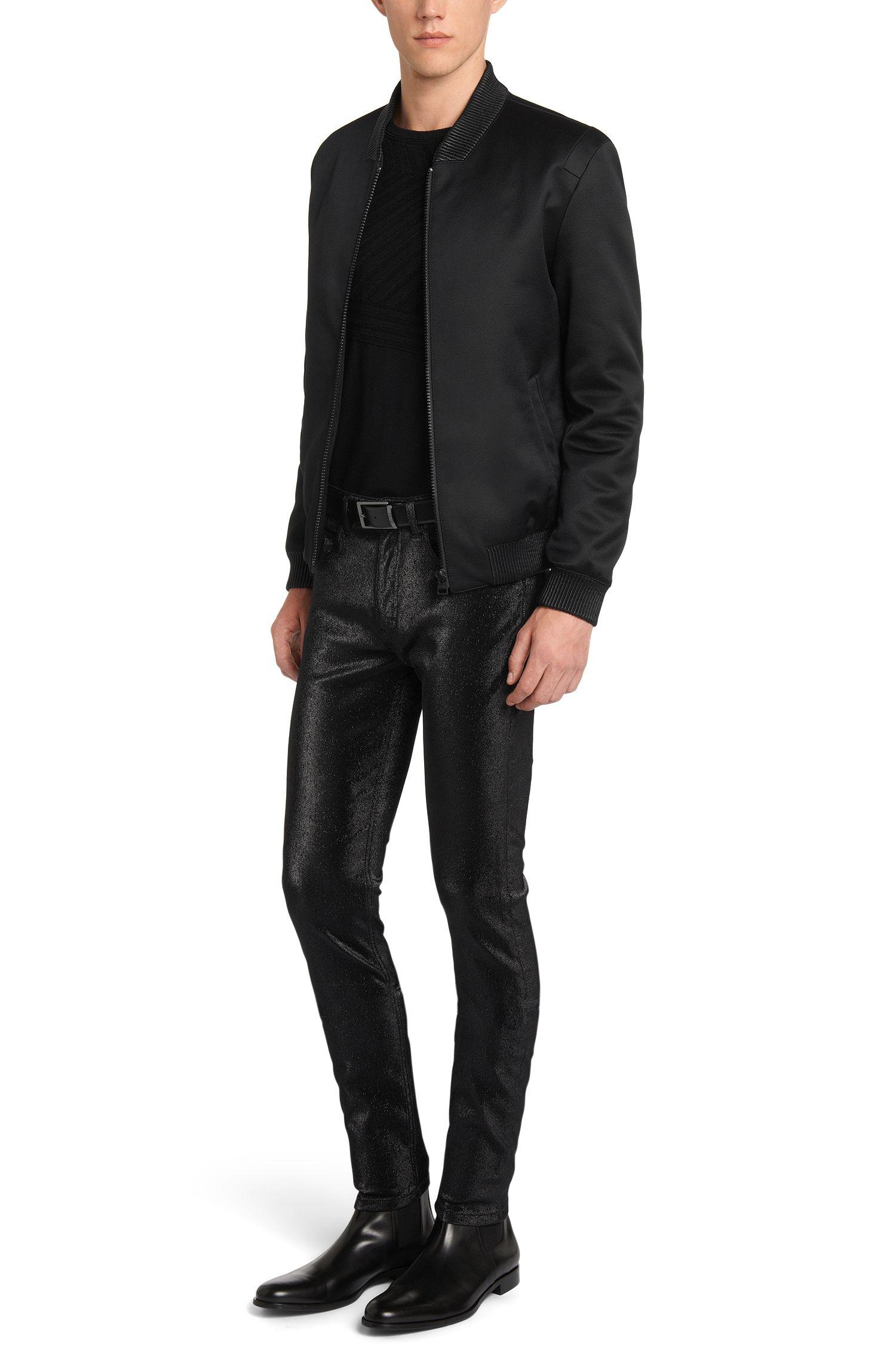 Pantalon Super Skinny Fit en coton mélangé au design métallisé: «HUGO 131»