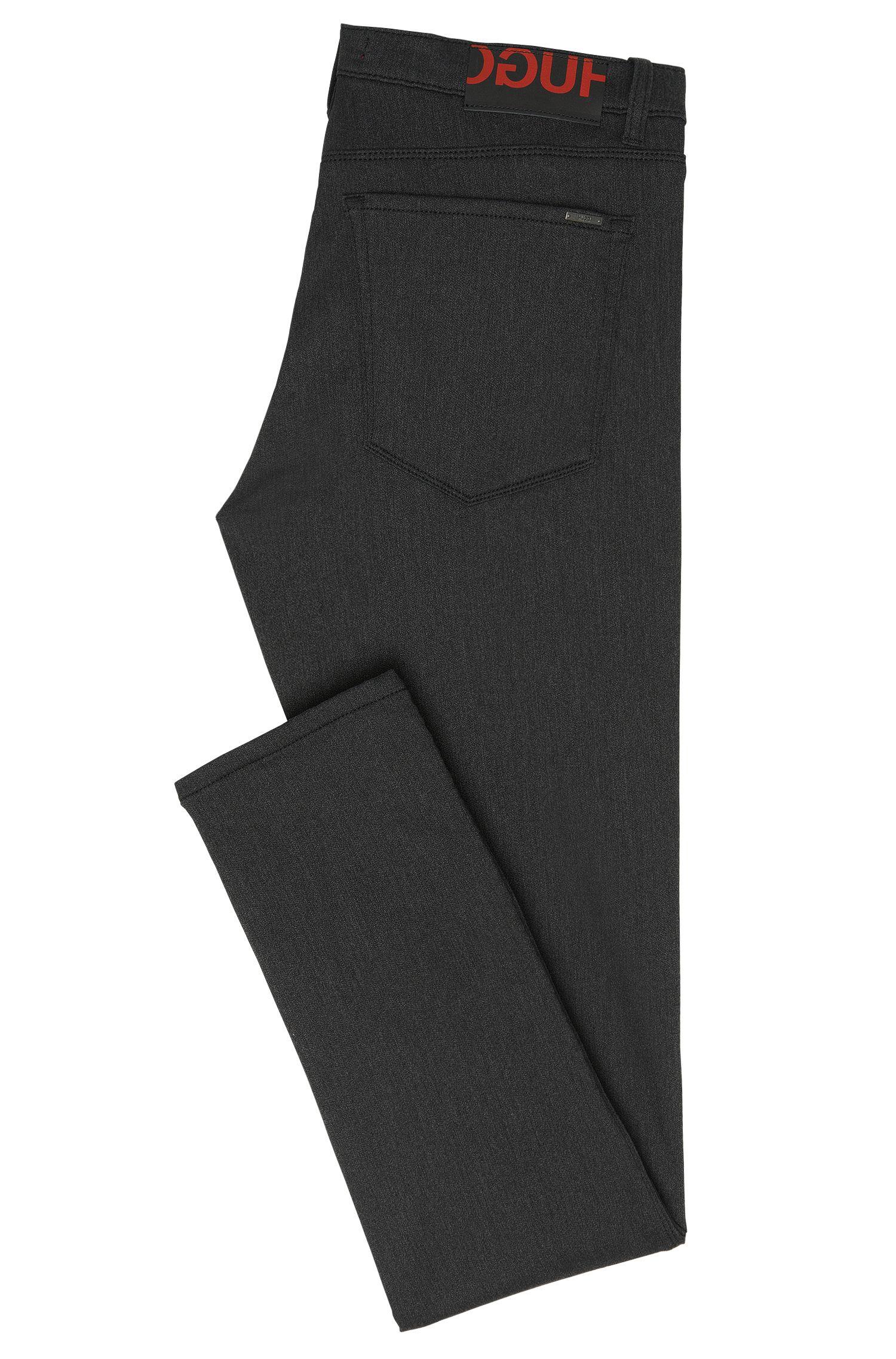 Skinny-fit jeans van een katoenmix met wassing: 'HUGO 734'