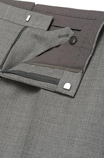 Melierte Slim-Fit Tailored Hose aus Schurwolle mit Seide: 'T-Gavril', Grau