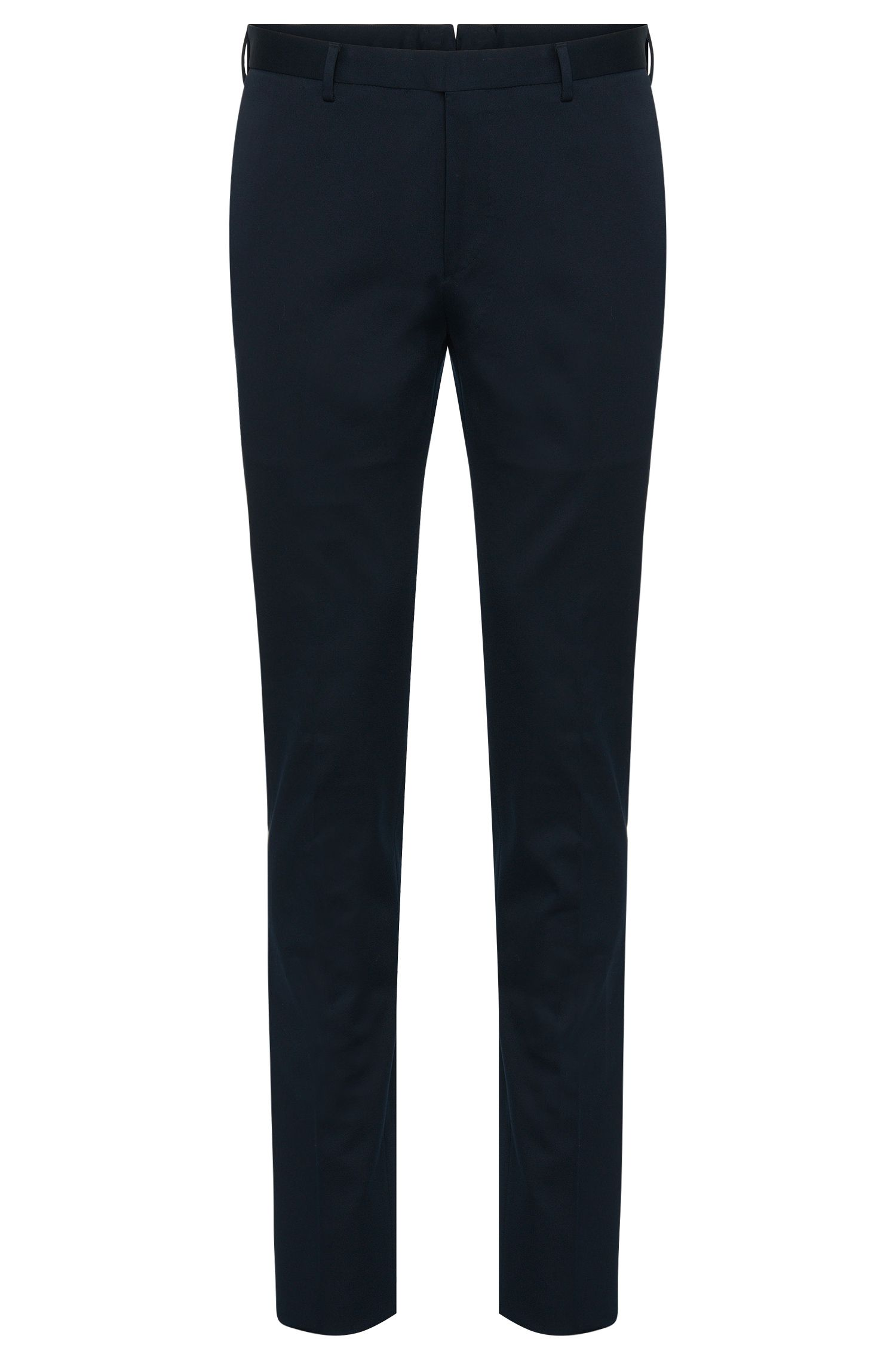 Slim-Fit Tailored Hose aus Baumwolle: 'T-Belvit'