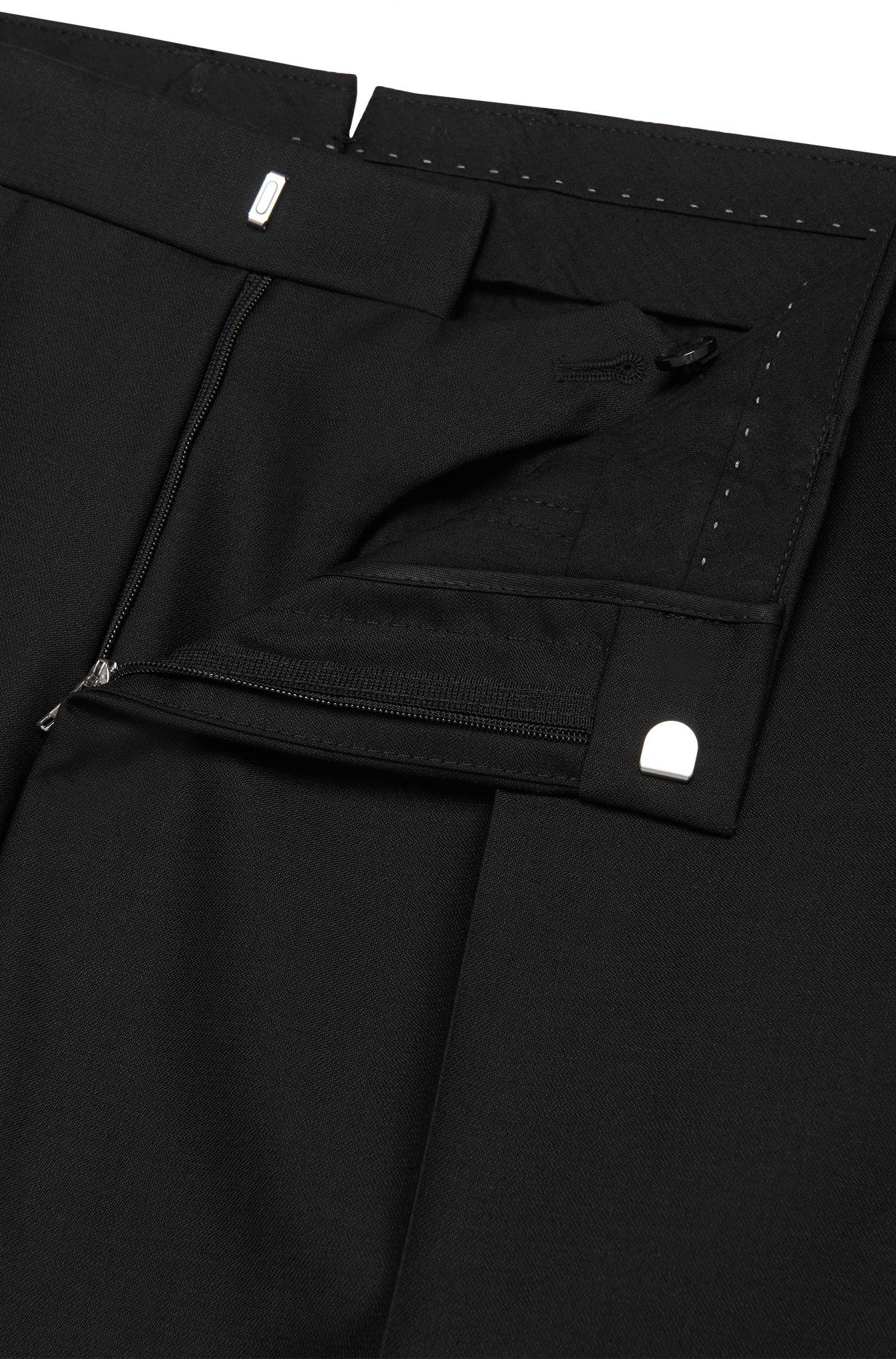 Pantalon Slim Fit Tailored en laine vierge mélangée à teneur en soie et mohair: «T-Gavril»
