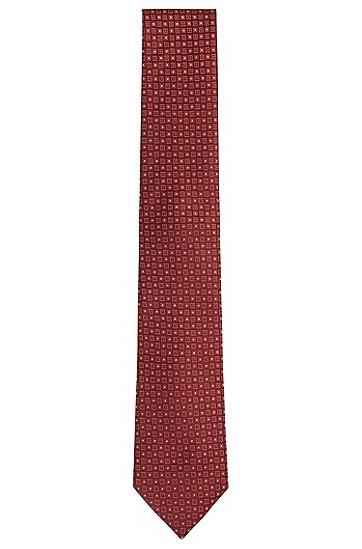 Cravate en soie à motif : « Tie 7,5 cm »