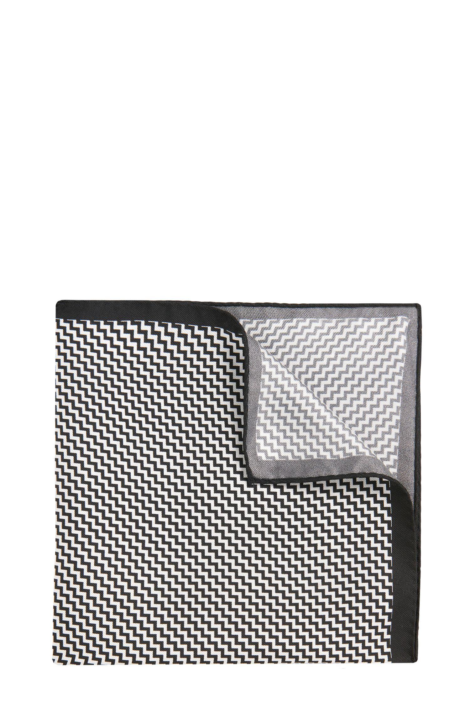 Pochet van zijde met dessin: 'Pocketsquare 33x33cm'