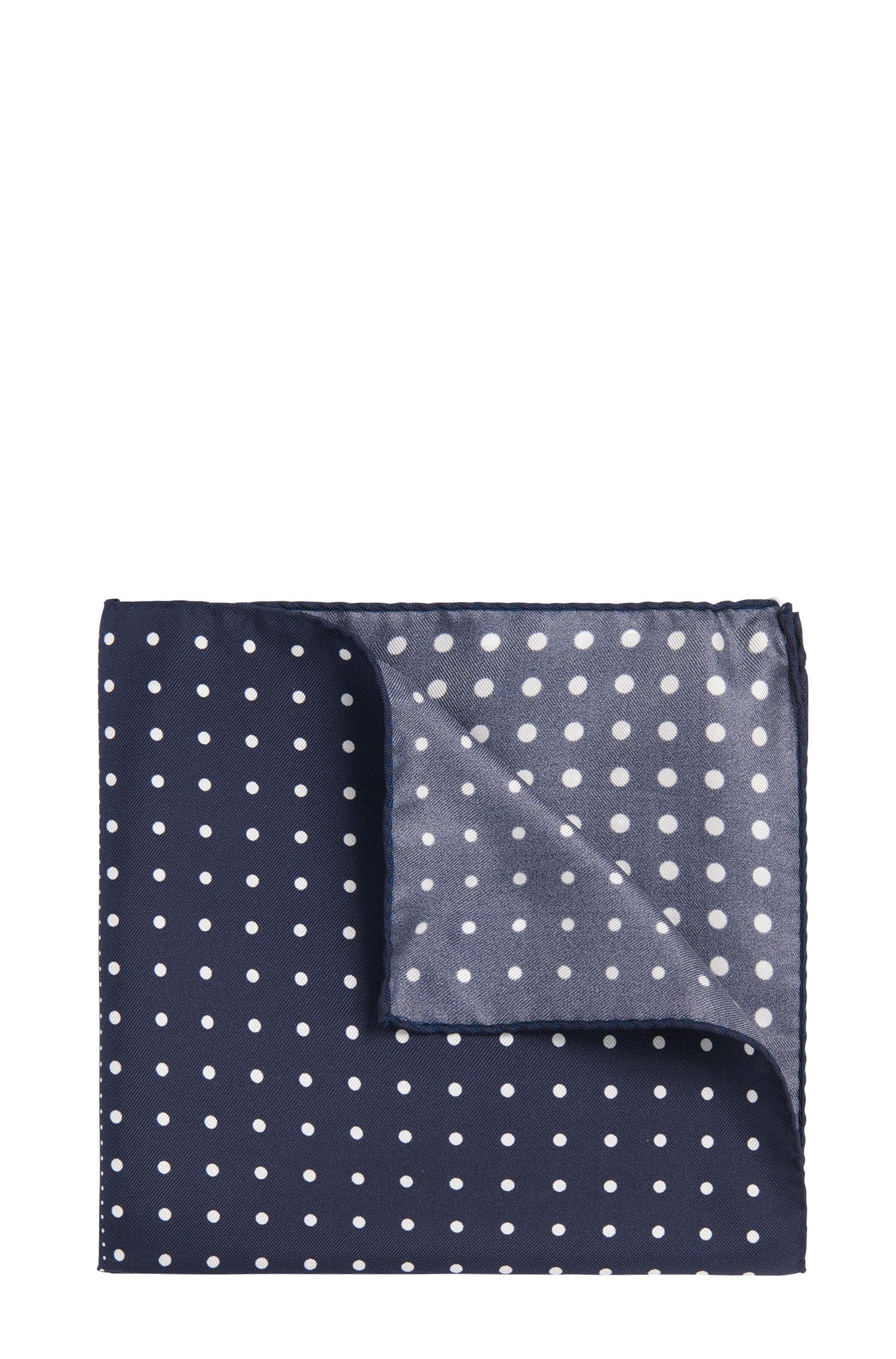 Patterned pocket square in silk: 'Pocketsquare 33x33cm'