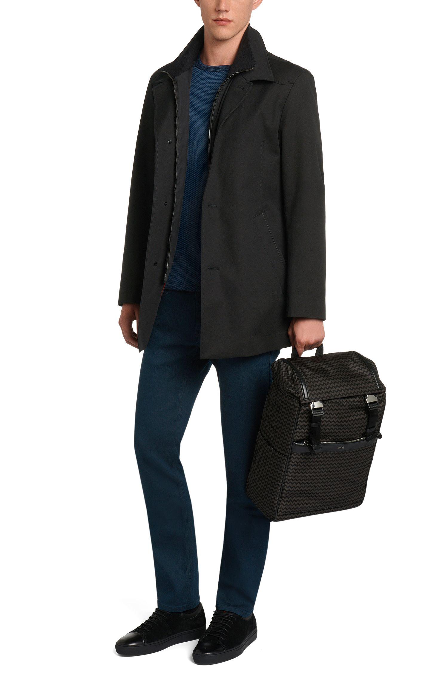 Jeans uni Slim Fit en coton mélangé extensible: «HUGO708»