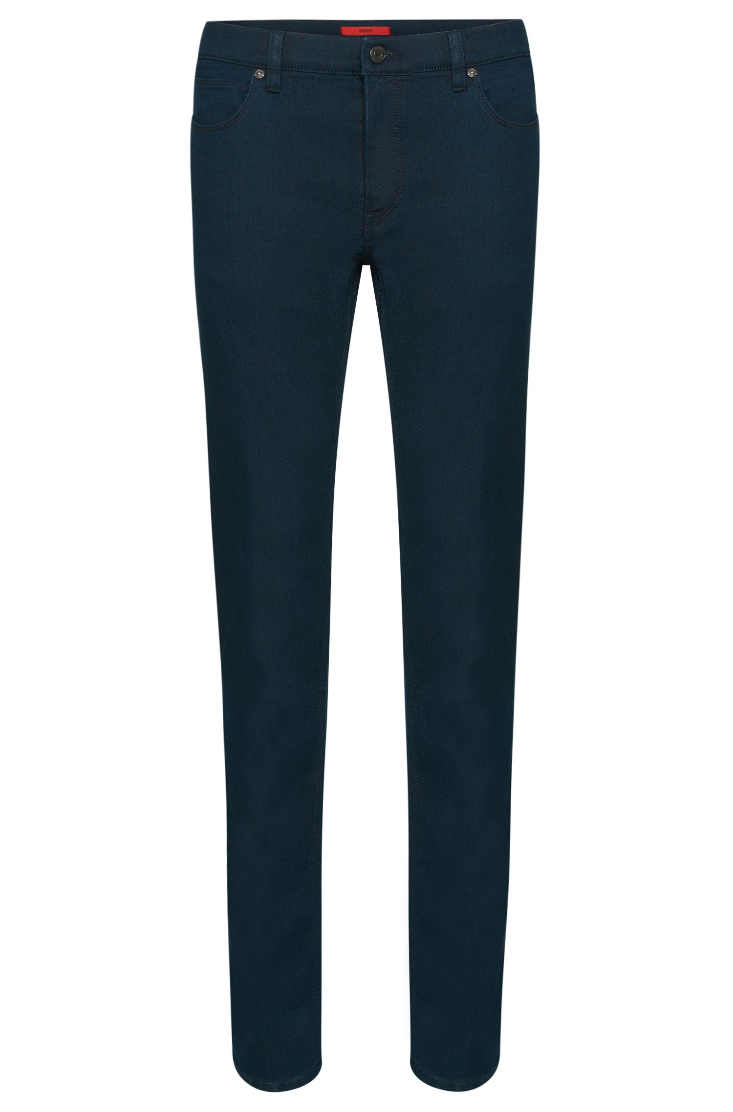 Plain slim-fit jeans in stretch cotton blend: 'HUGO 708'