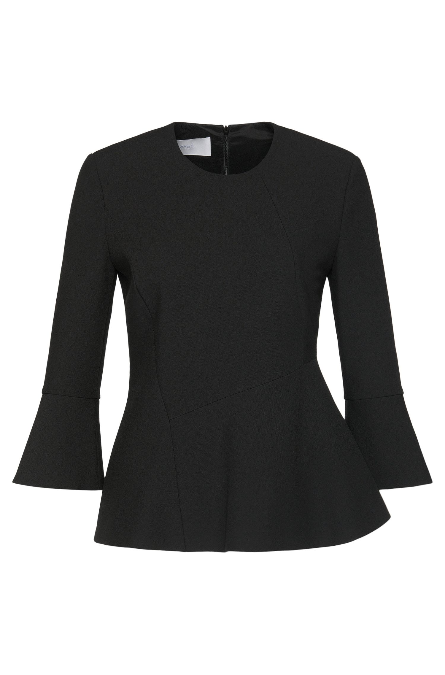 Fitted top with trumpet sleeves: 'Itanea1'