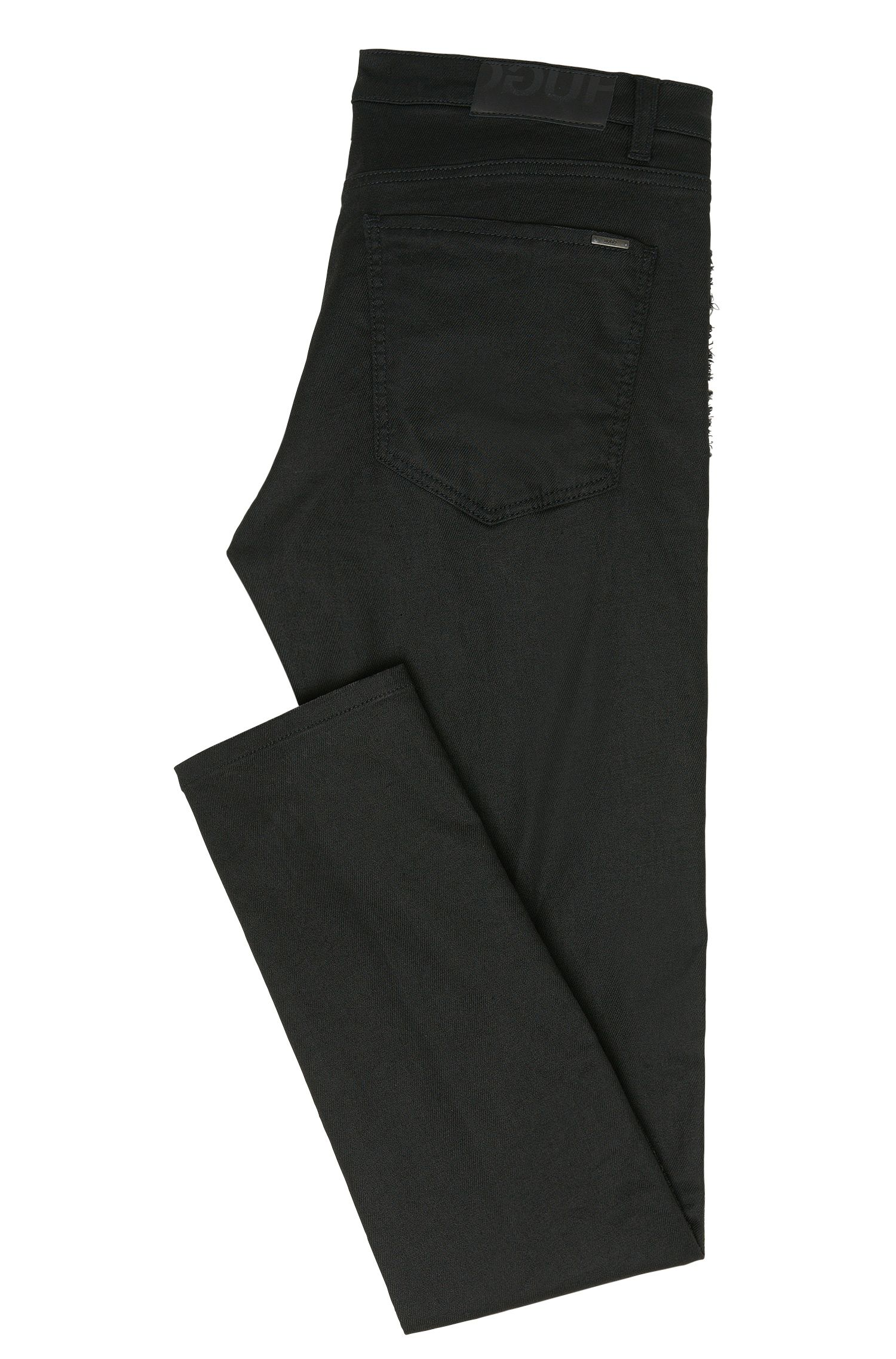 Skinny-fit jeans van een katoenmix met studs: 'Hugo 734/34'