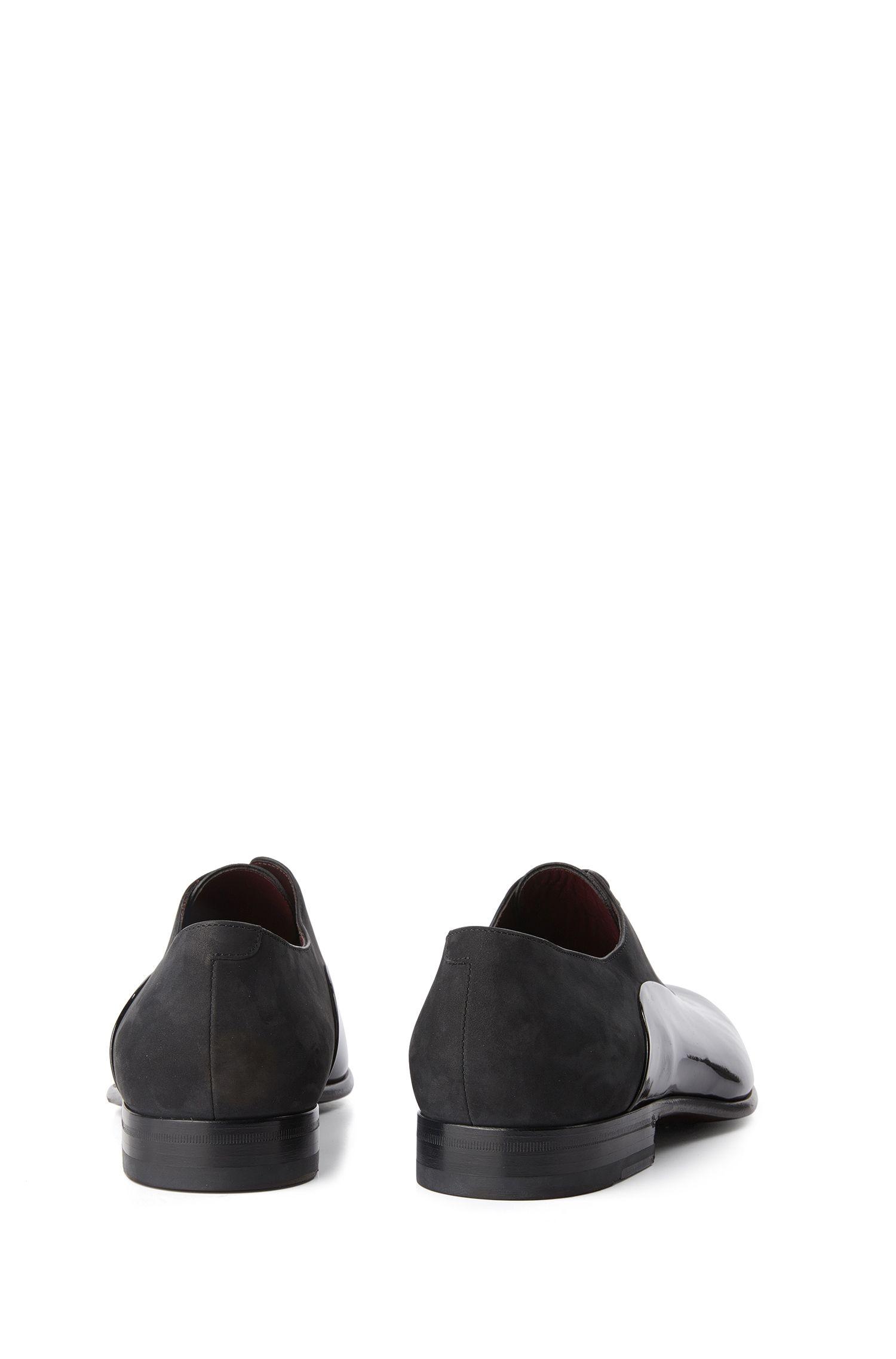 Tailored Schnürschuhe aus Velours- und Lackleder: 'T-Legend_Oxfr_panu'