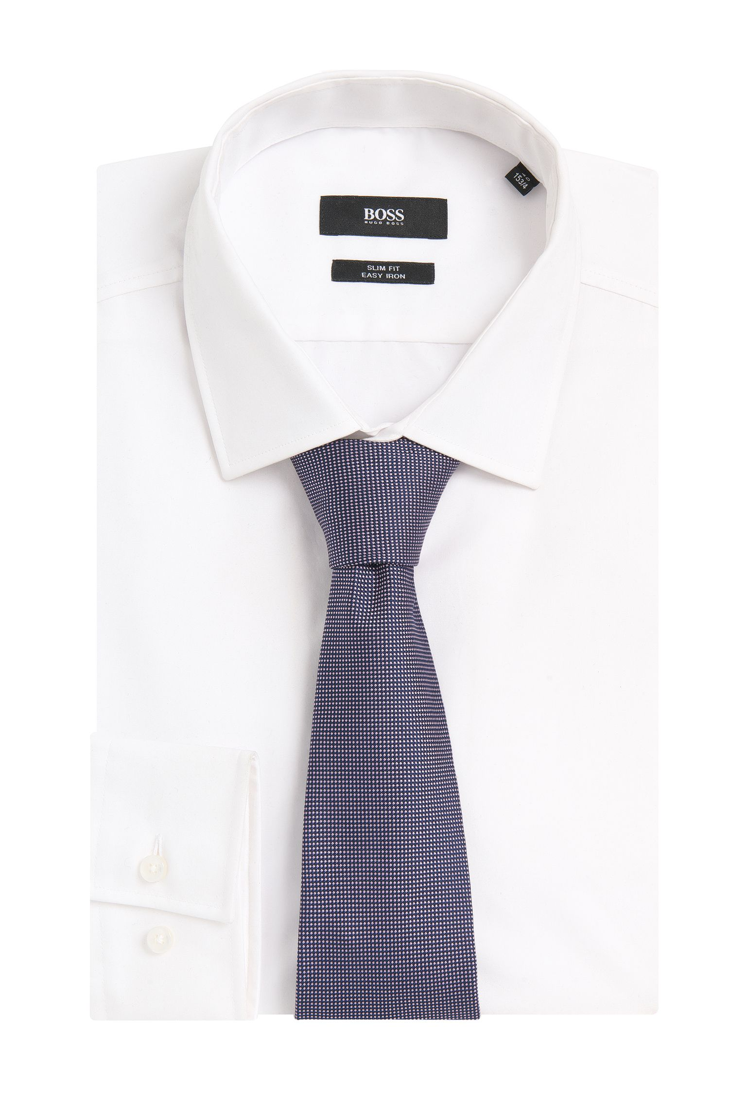 Stropdas van zijde met all-over dessin: 'Tie 7,5 cm'