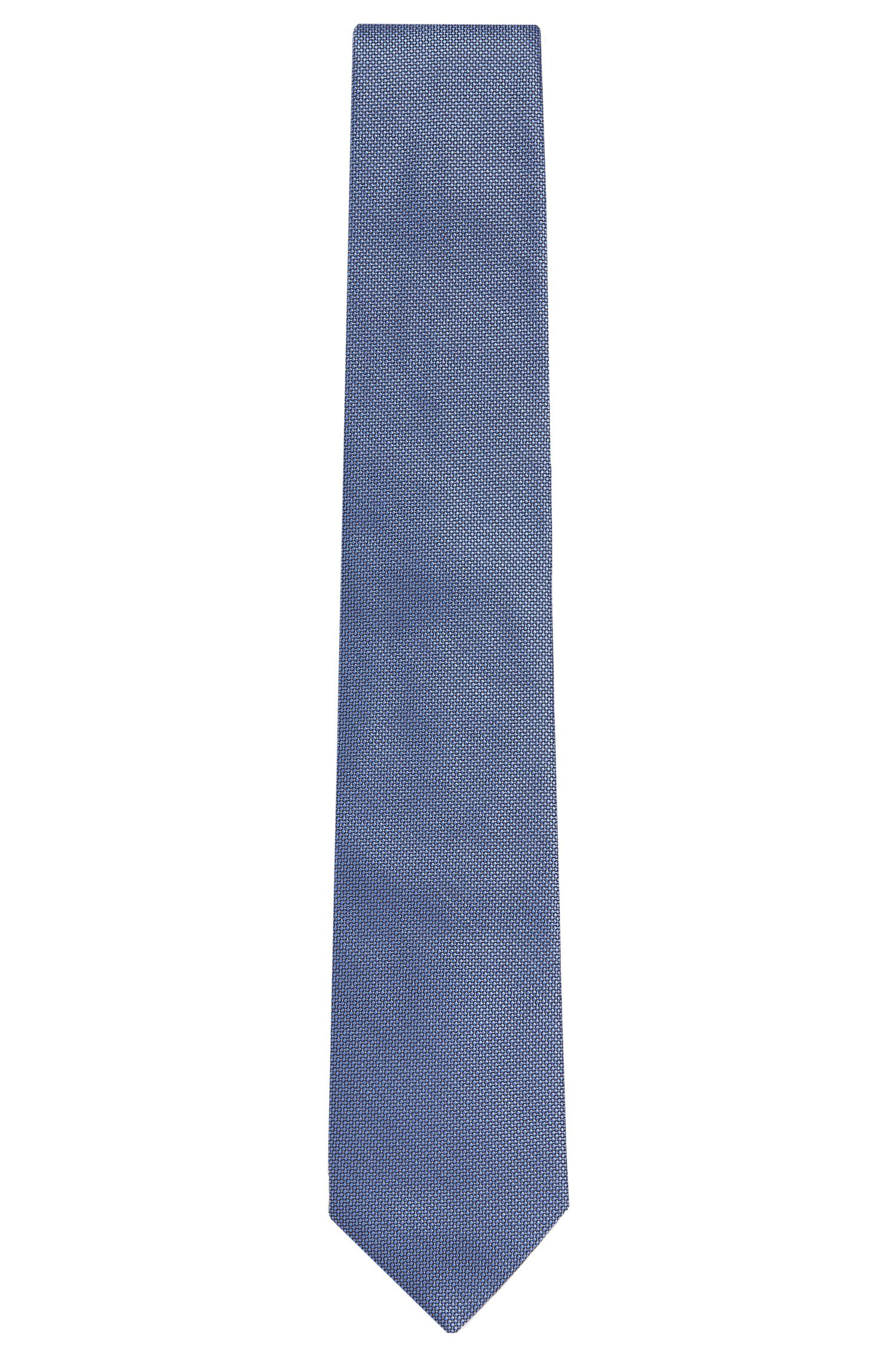 Fein gemusterte Krawatte aus Seide: 'Tie 7,5 cm'
