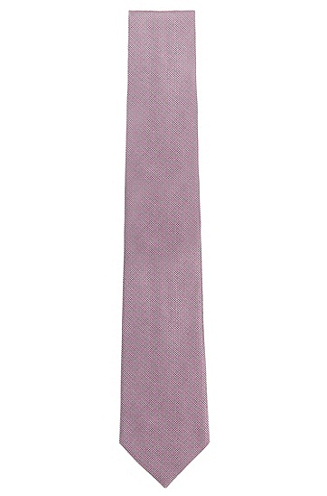 Fein gemusterte Krawatte aus Seide: 'Tie 7,5 cm', Hellrosa
