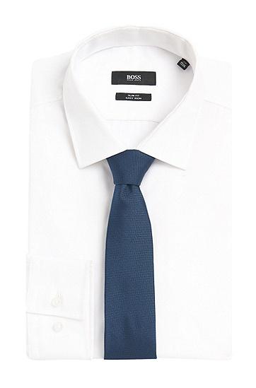 Fein strukturierte Krawatte aus Seide: 'Tie 6 cm', Dunkelblau