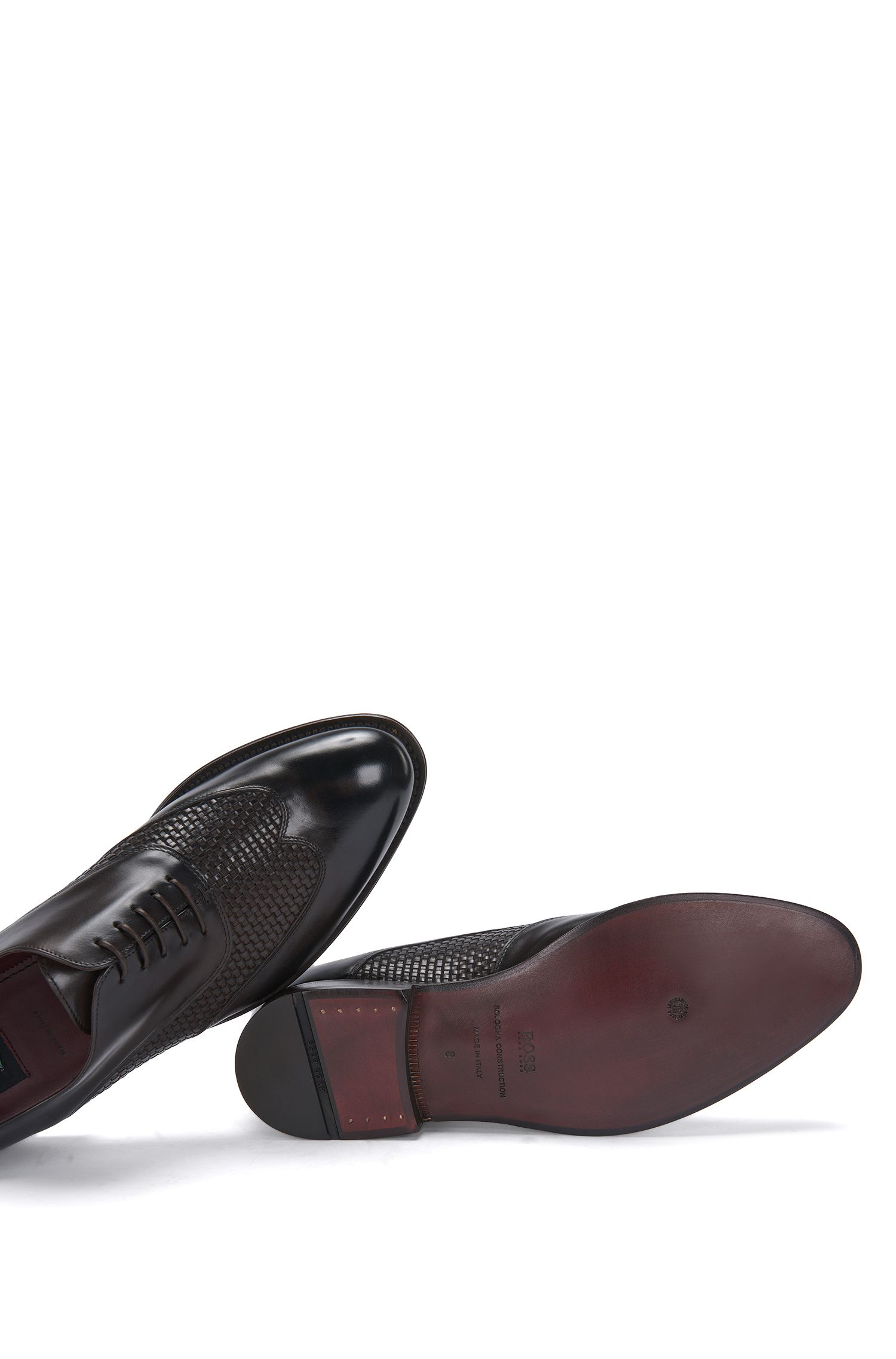 Tailored Leder-Schnürschuhe mit Flecht-Struktur: 'T-Idol_Oxfr_wowt'