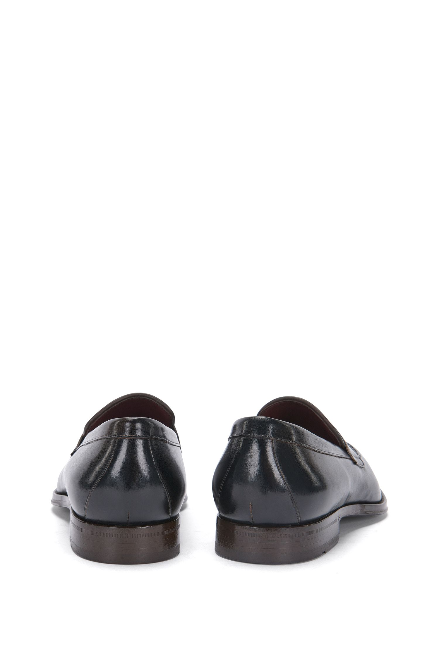 Tailored Loafer aus Leder mit Partien in Flecht-Struktur: 'T-Idol_Loaf_woap'