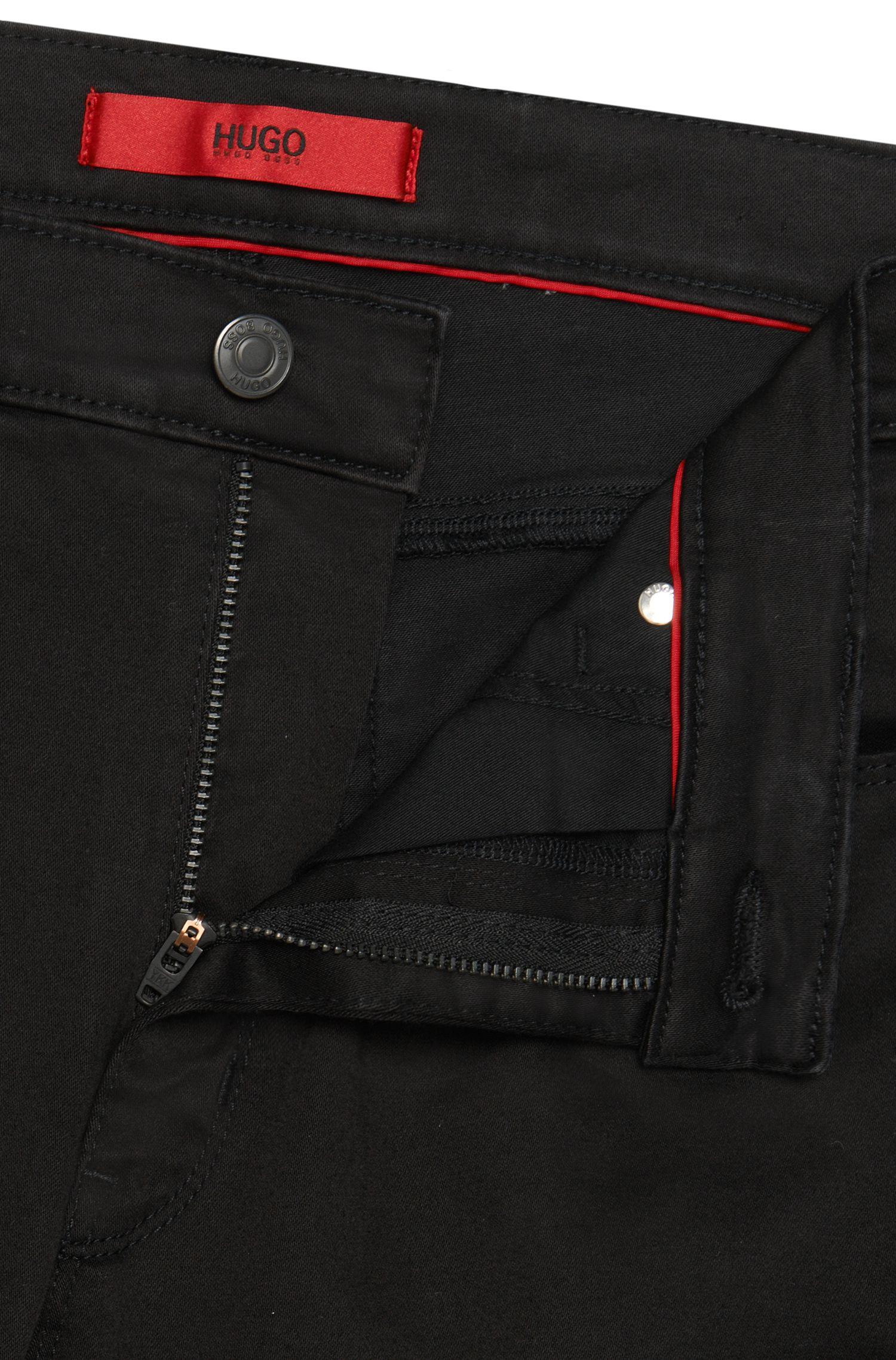 Unifarbene Skinny-Fit Jeans aus elastischem Baumwoll-Mix: 'HUGO 734'