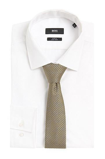 Gemusterte Krawatte aus Seide: 'Tie 6 cm', Grün