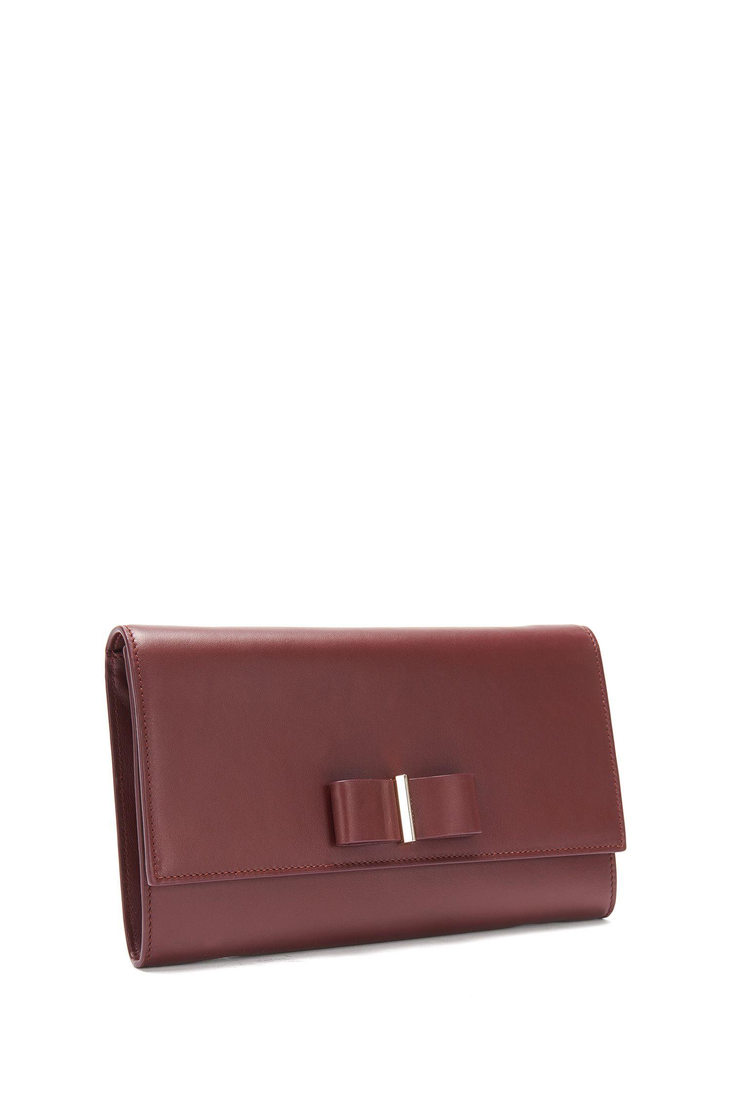 Clutch aus Leder mit Schleifen-Detail: 'Bow Mini Bag-M'