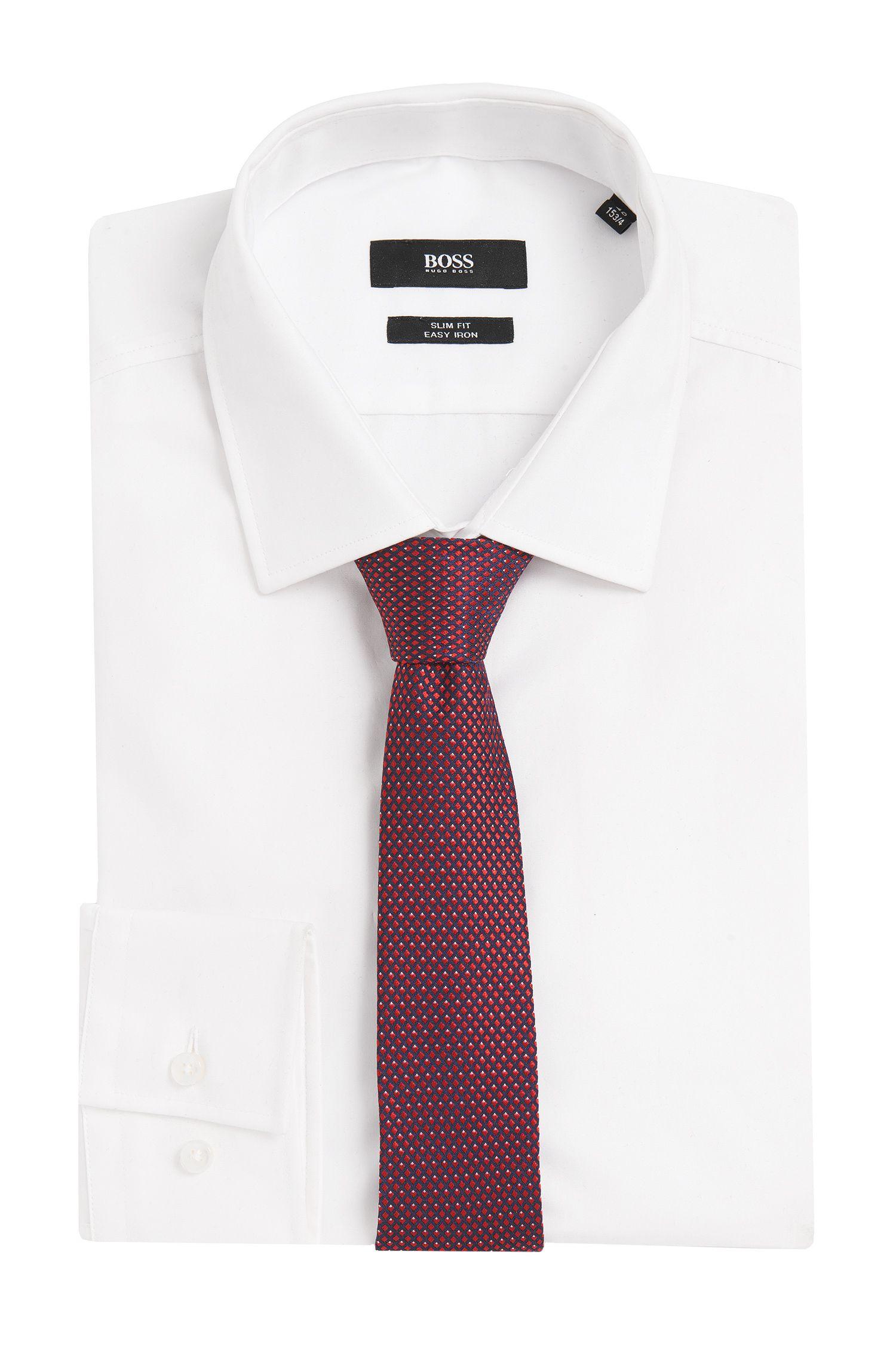 Stropdas van zijde met fijn dessin: 'Tie 6 cm'