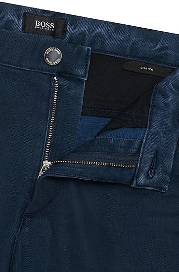 Slim-Fit Jeans aus elastischer Baumwolle: 'Delaware6', Dunkelblau