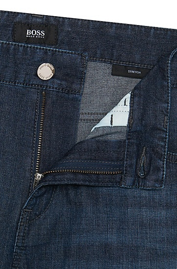 Slim-Fit Jeans aus Stretch-Baumwolle: 'Delaware3-1', Dunkelblau