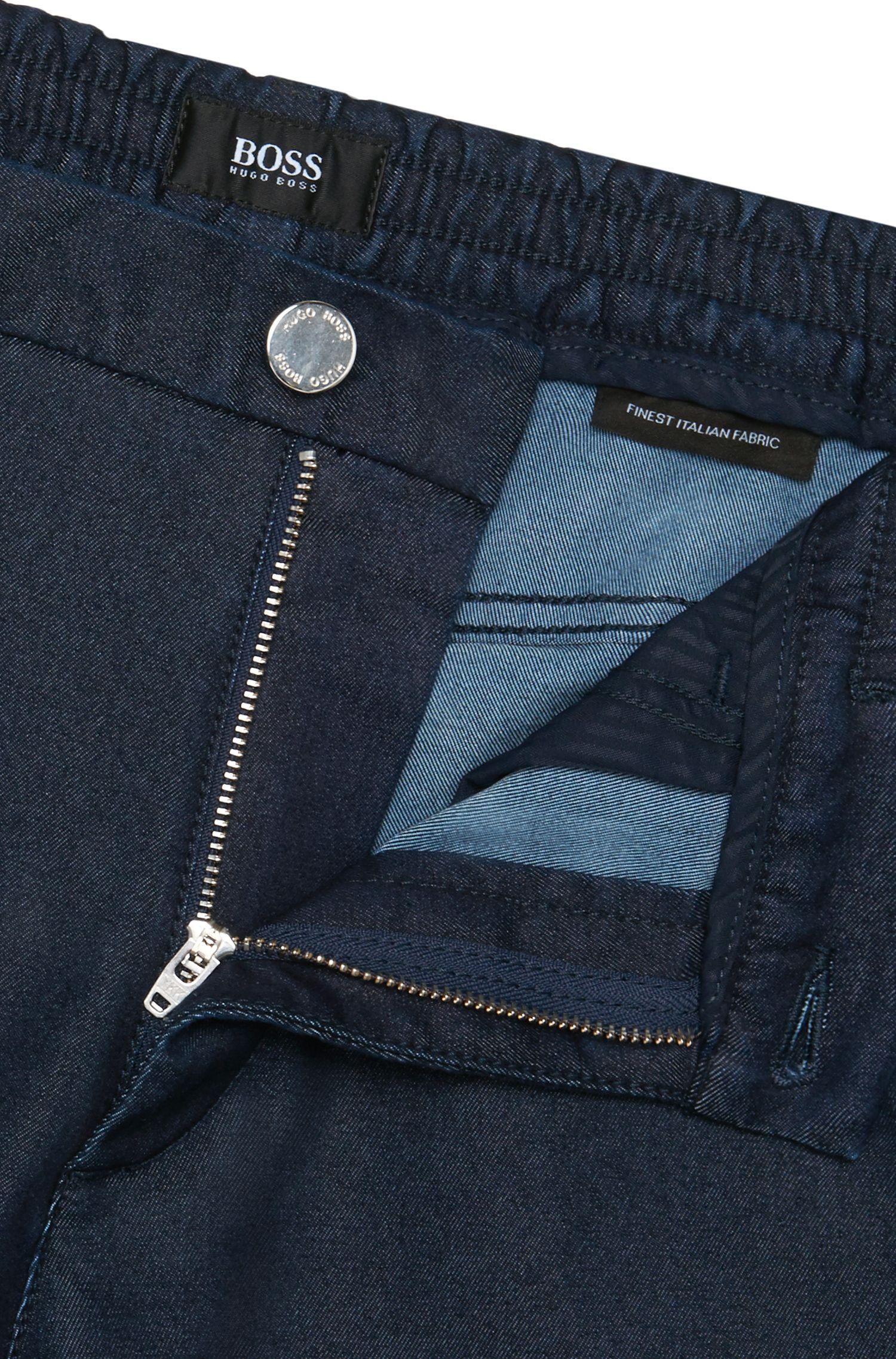 Tapered-Fit Jeans aus Baumwoll-Mix mit elastischen Bündchen: 'Orleans'