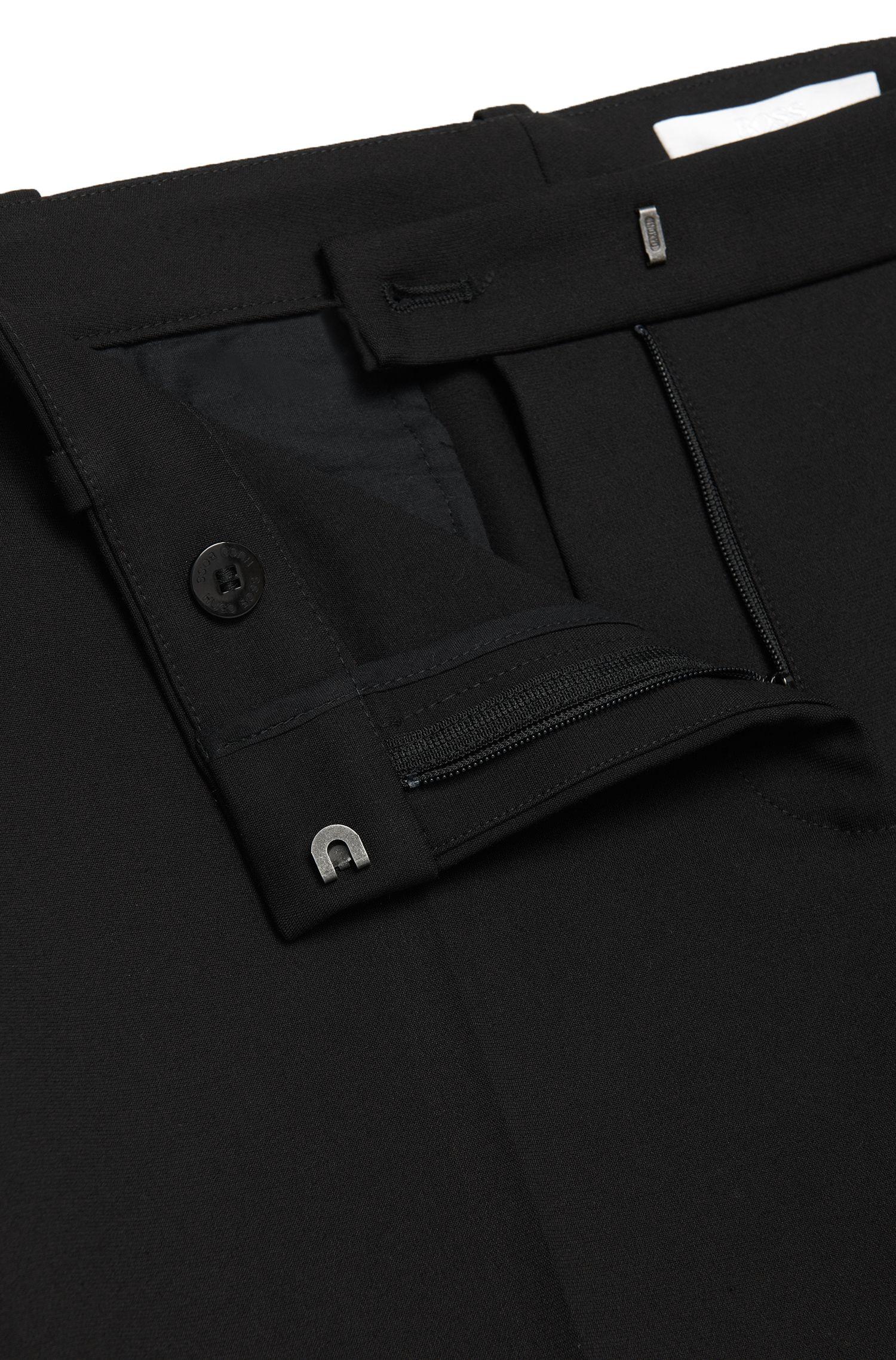 Pantalon Slim Fit à plis marqués en coton mélangé: «Arima»