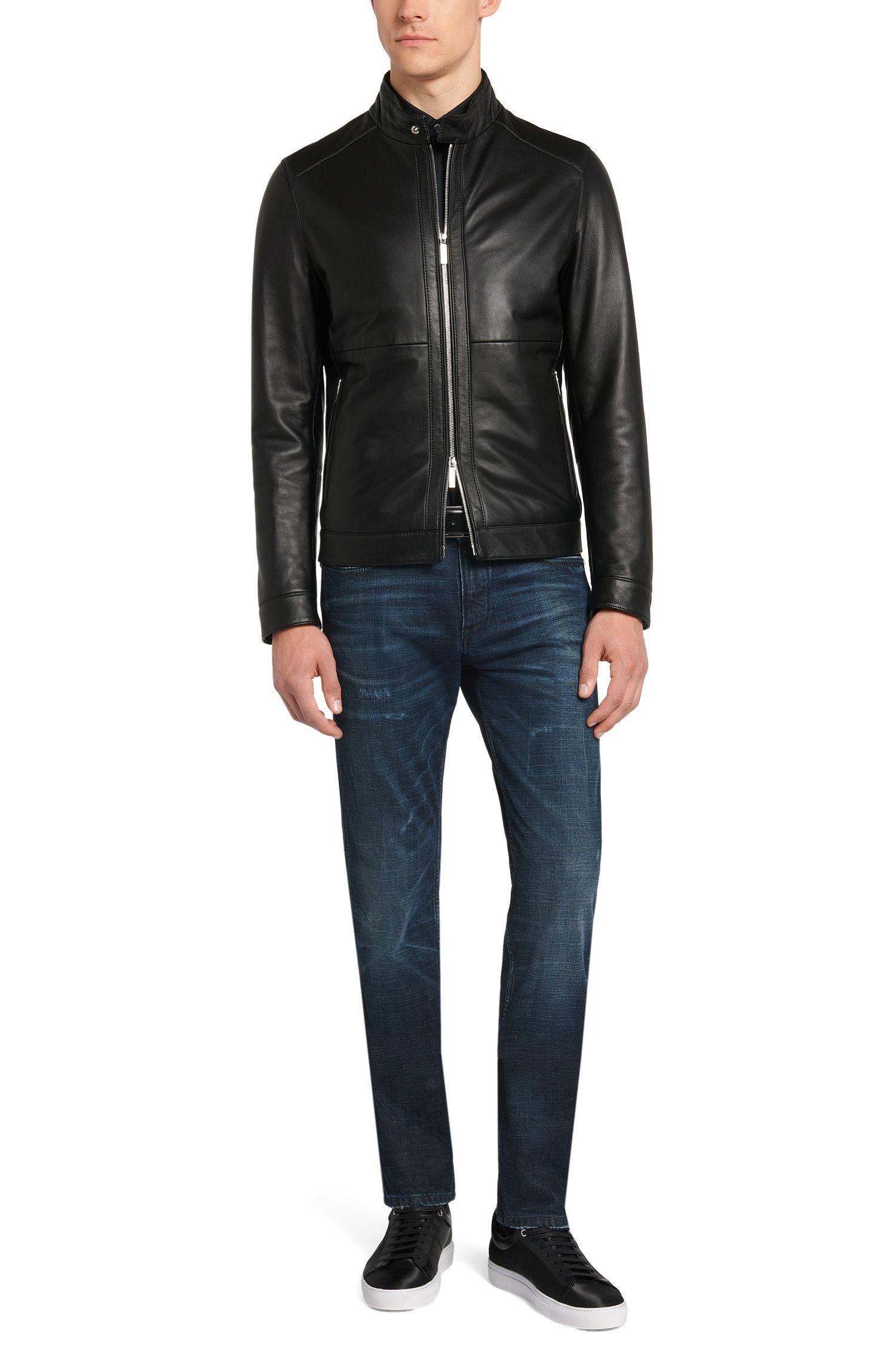 Slim-Fit Jeans aus Stretch-Baumwolle mit Used-Waschung: 'Delaware3'