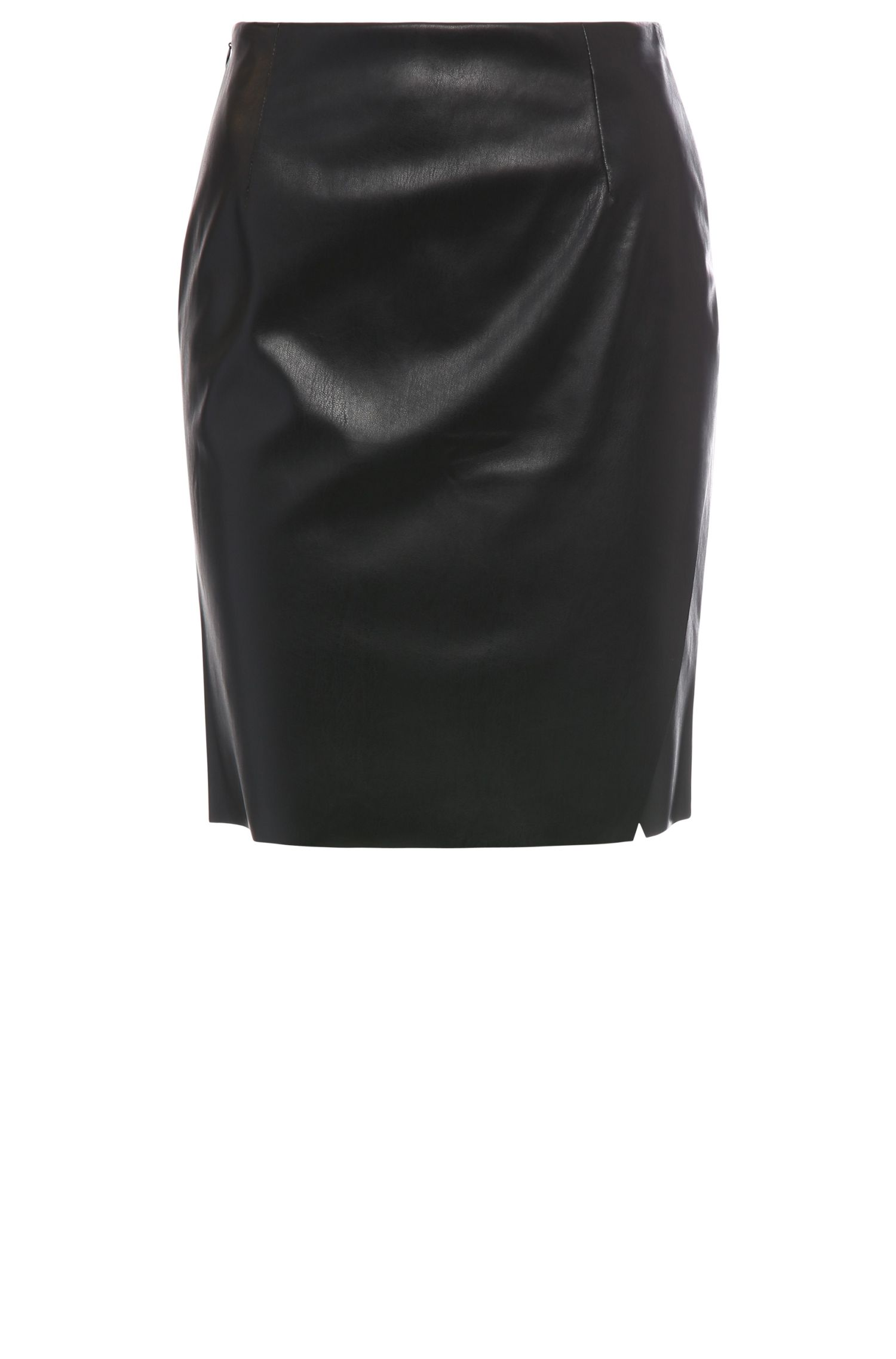 Slim-fit pencil skirt in a leather-effect fabric blend: 'Baledy'