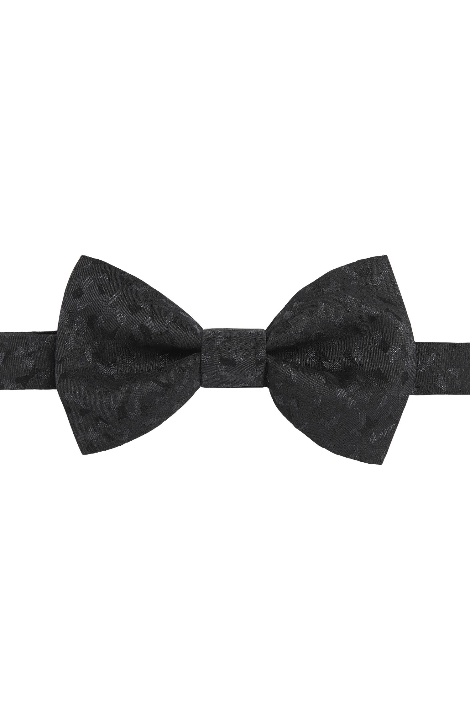 Patterned bow-tie in silk blend with metal fibres: 'Big bow tie'