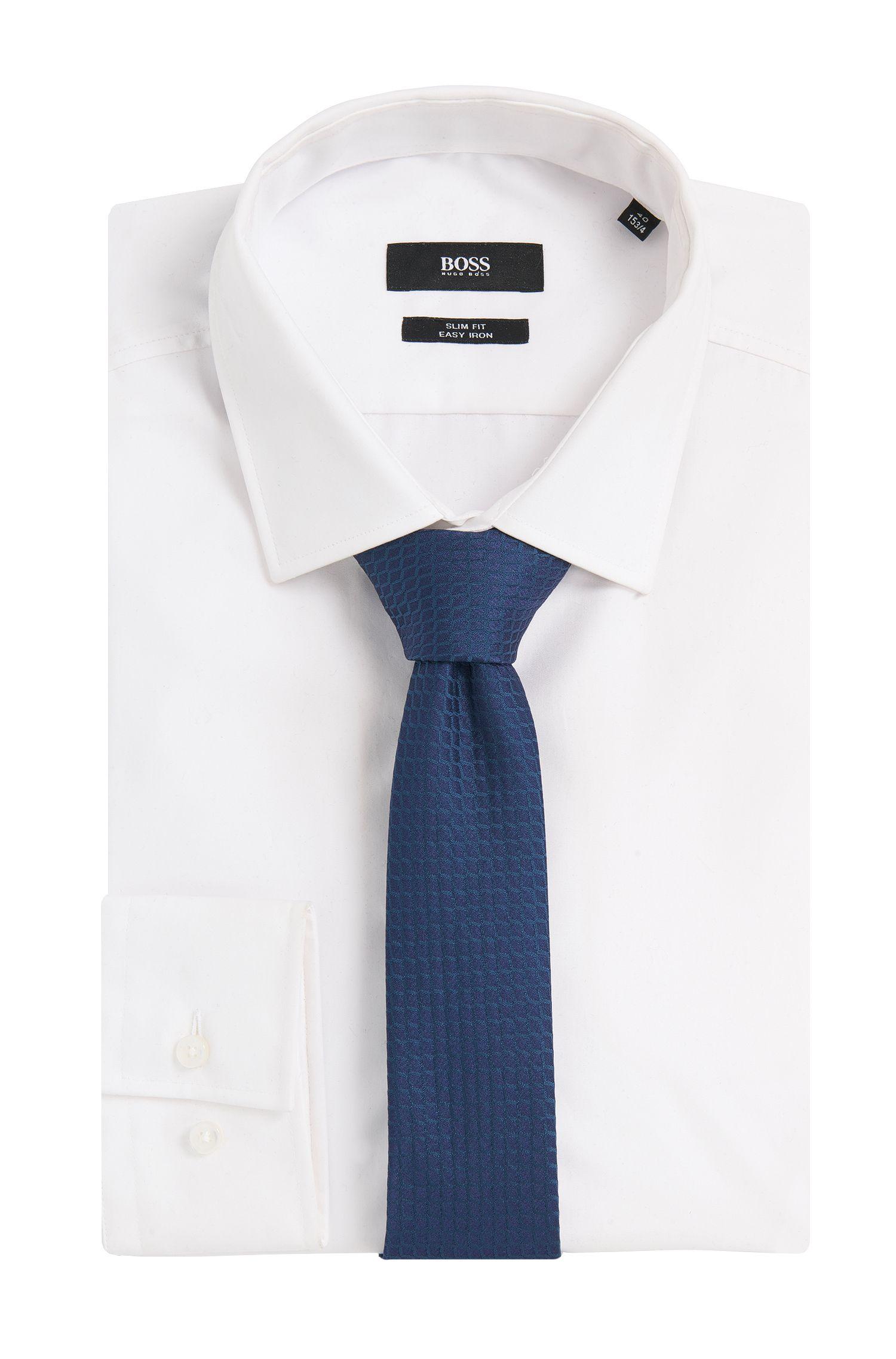 Gestructureerde stropdas van een zijdemix: 'Tie 6 cm'