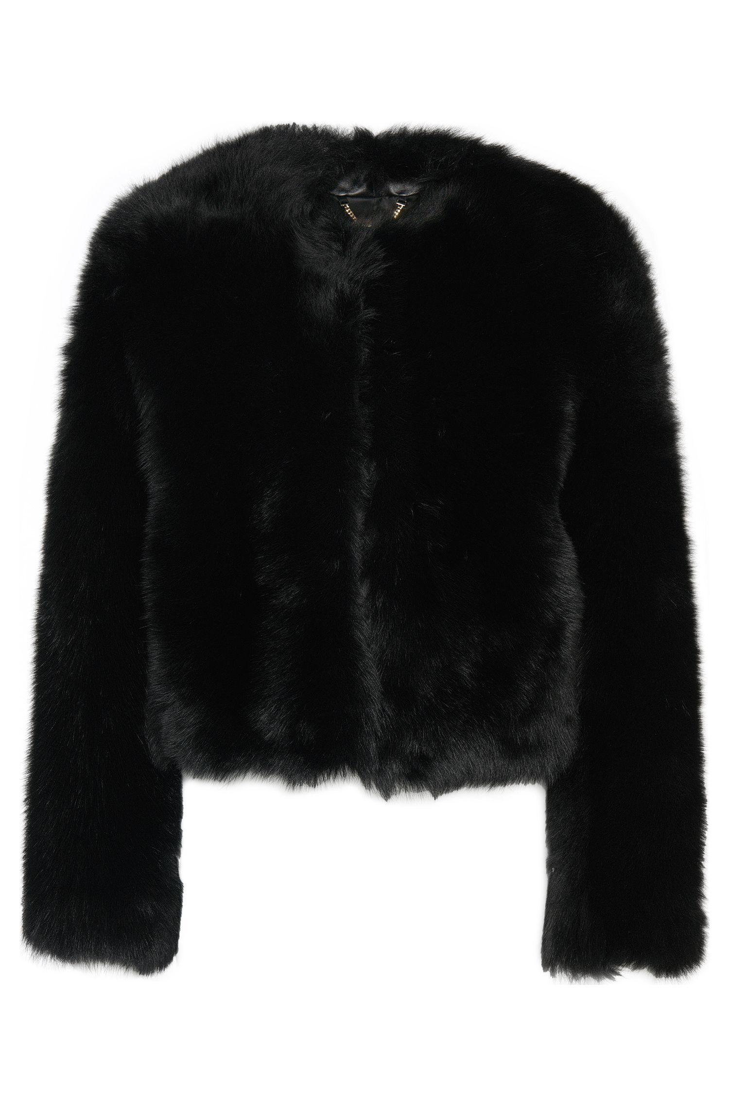 Cazadora de piel de cordero con corte corto: 'Samisa'