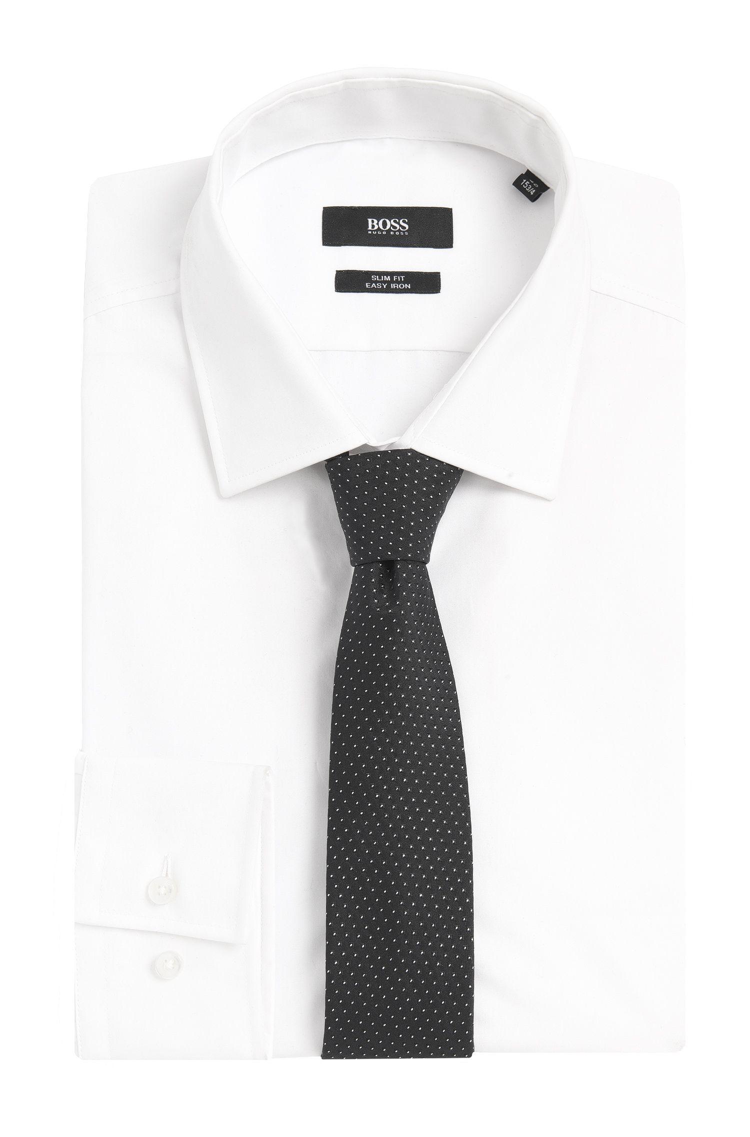 Cravate BOSS en soie mélangée à pois: «Tie6cm»