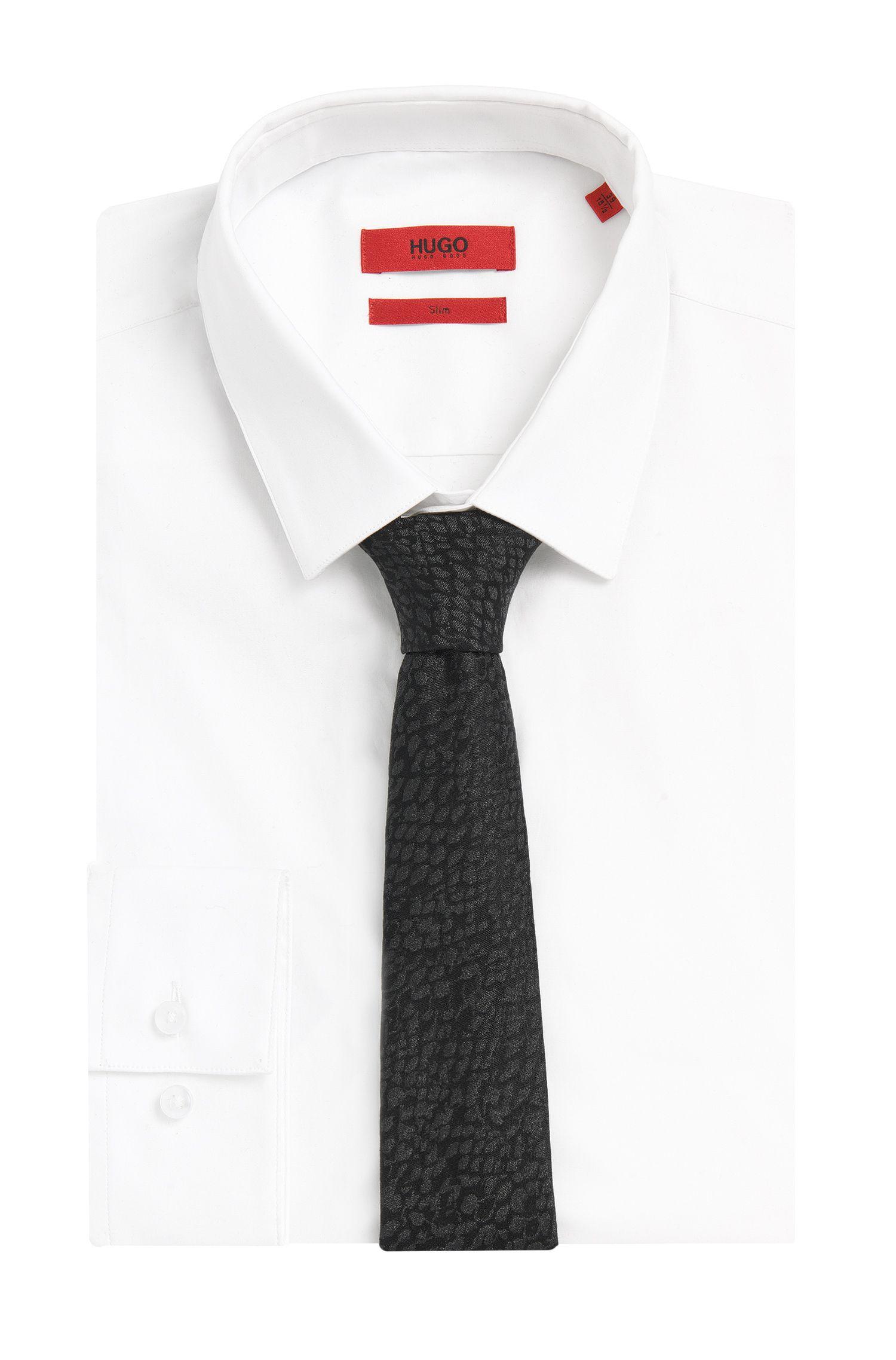 Strukturierte Krawatte mit schimmernden Partikeln: 'Tie cm 6'