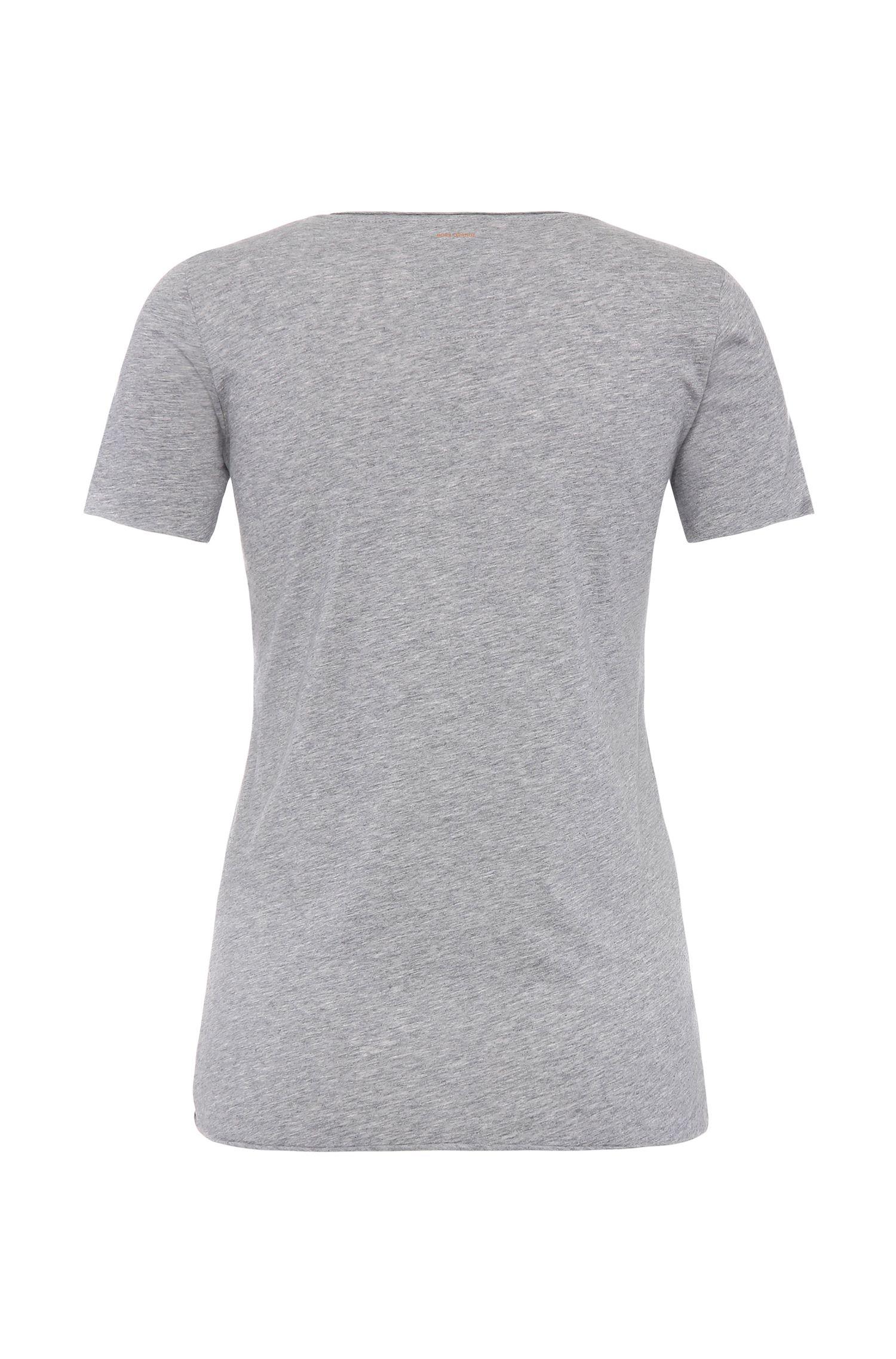 T-shirt en coton Slim Fit à imprimé graphique: «Tishirt»
