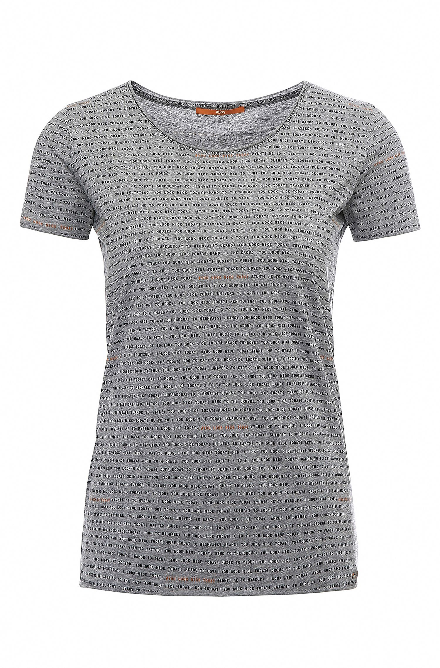 Regular-fit cotton shirt with lettering: 'Tashirt'